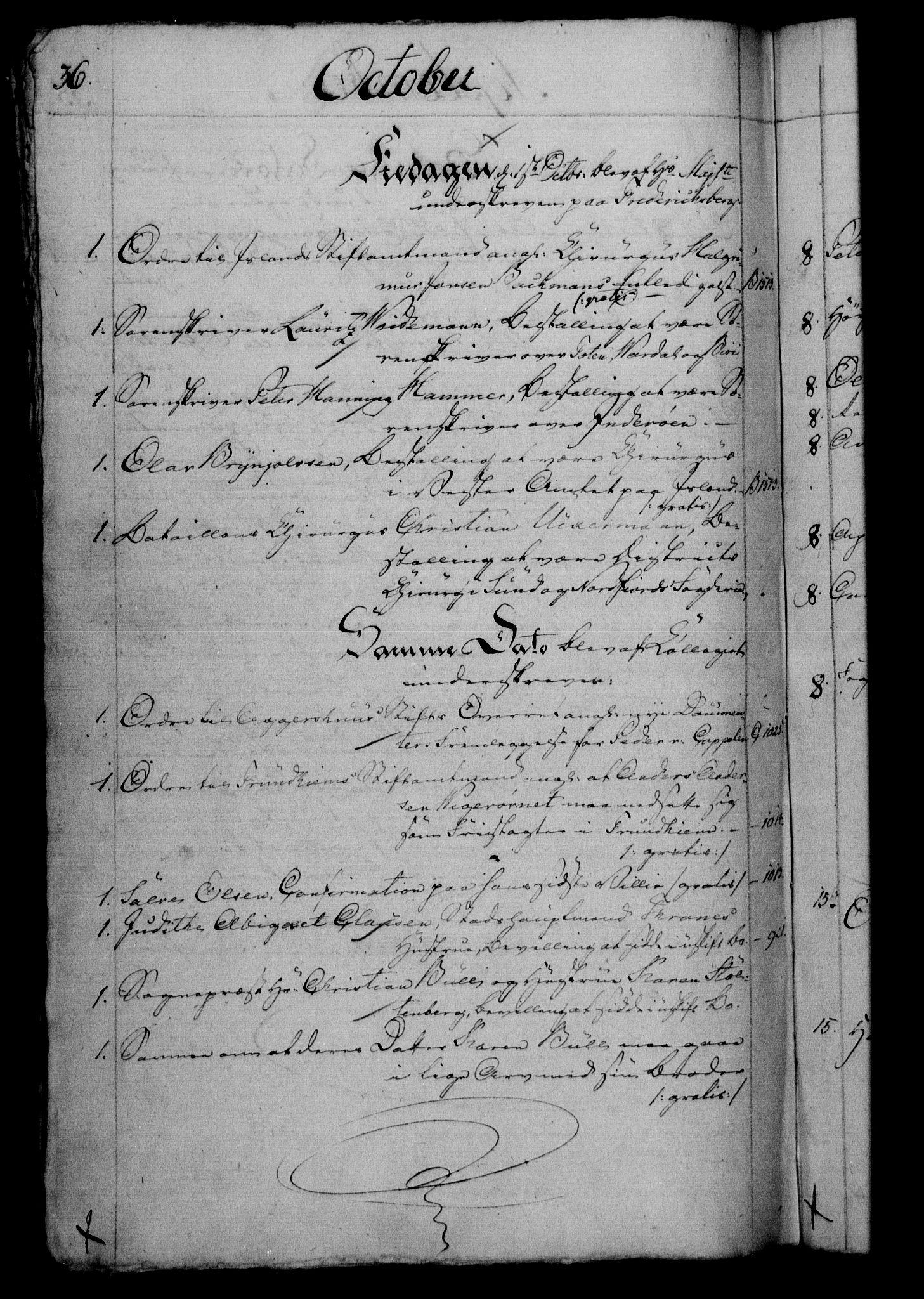 RA, Danske Kanselli 1800-1814, H/Hf/Hfb/Hfbc/L0003: Underskrivelsesbok m. register, 1802, s. 36