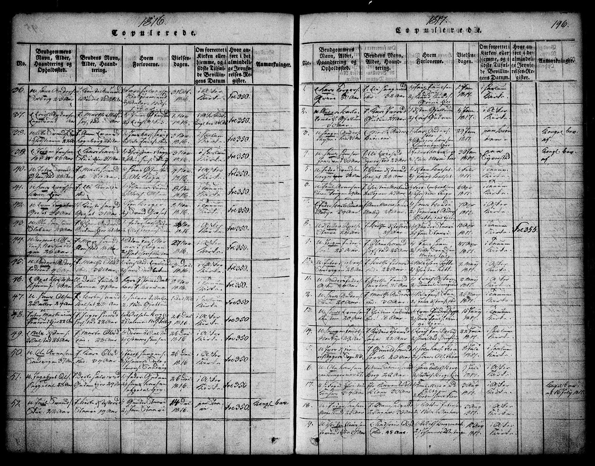 SAO, Asker prestekontor Kirkebøker, F/Fa/L0006: Ministerialbok nr. I 6, 1814-1824, s. 196