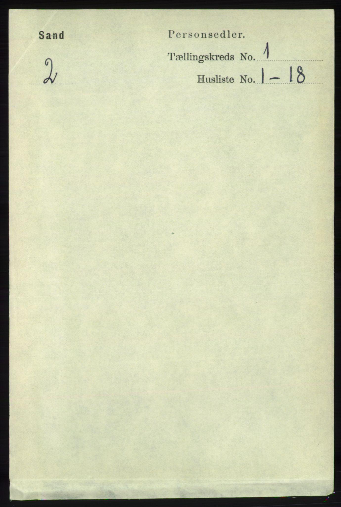 RA, Folketelling 1891 for 1136 Sand herred, 1891, s. 60