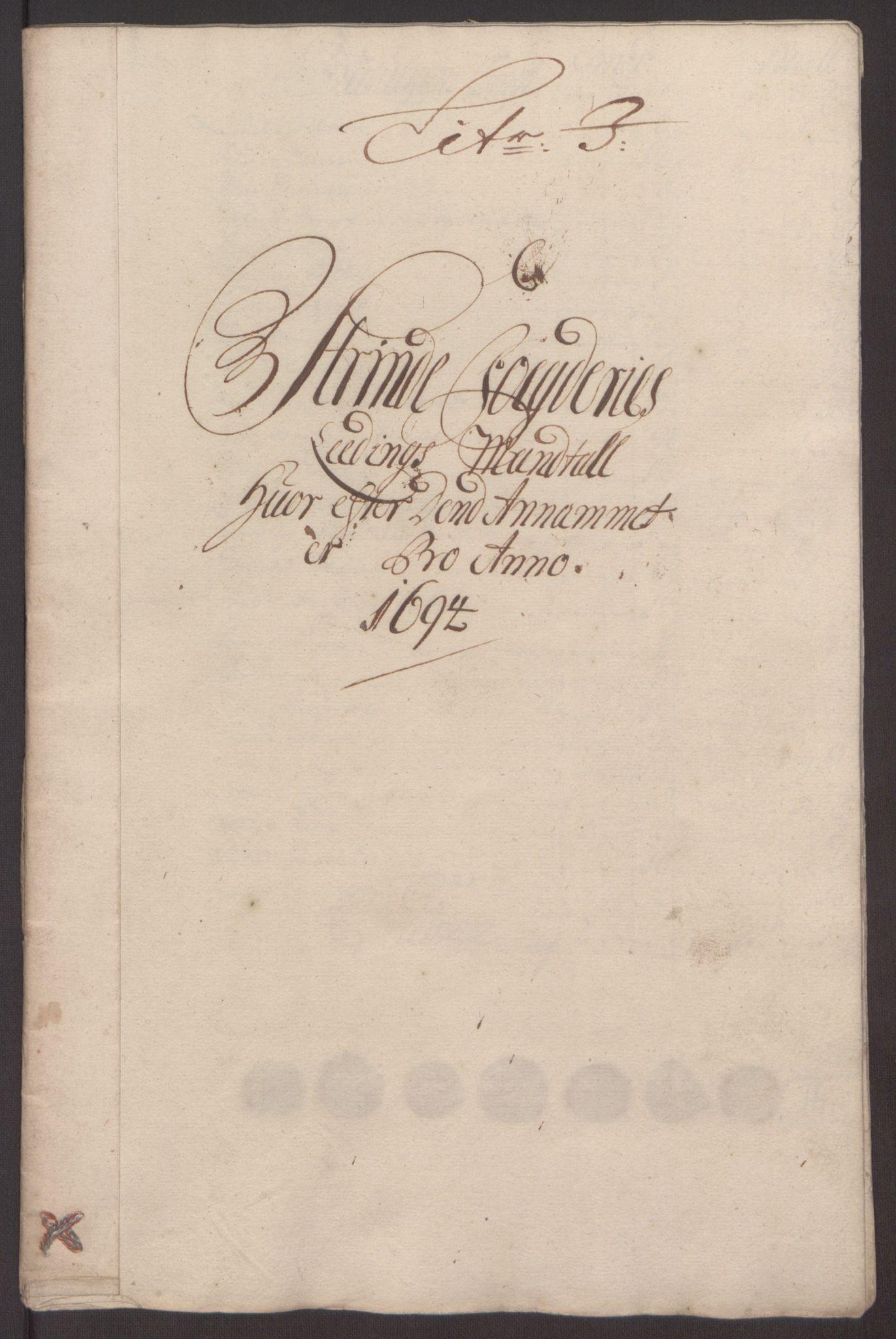 RA, Rentekammeret inntil 1814, Reviderte regnskaper, Fogderegnskap, R61/L4104: Fogderegnskap Strinda og Selbu, 1693-1694, s. 255