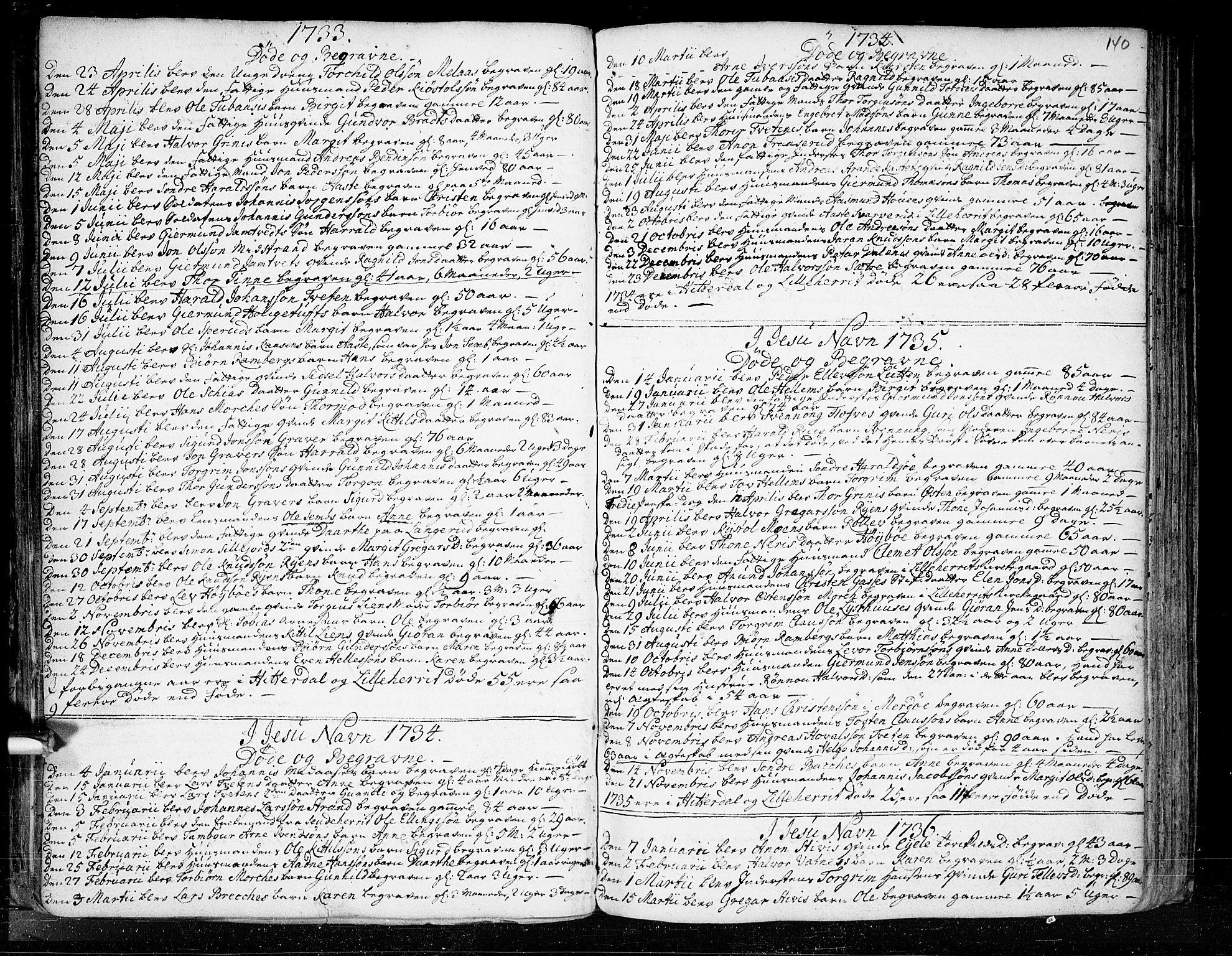 SAKO, Heddal kirkebøker, F/Fa/L0003: Ministerialbok nr. I 3, 1723-1783, s. 140