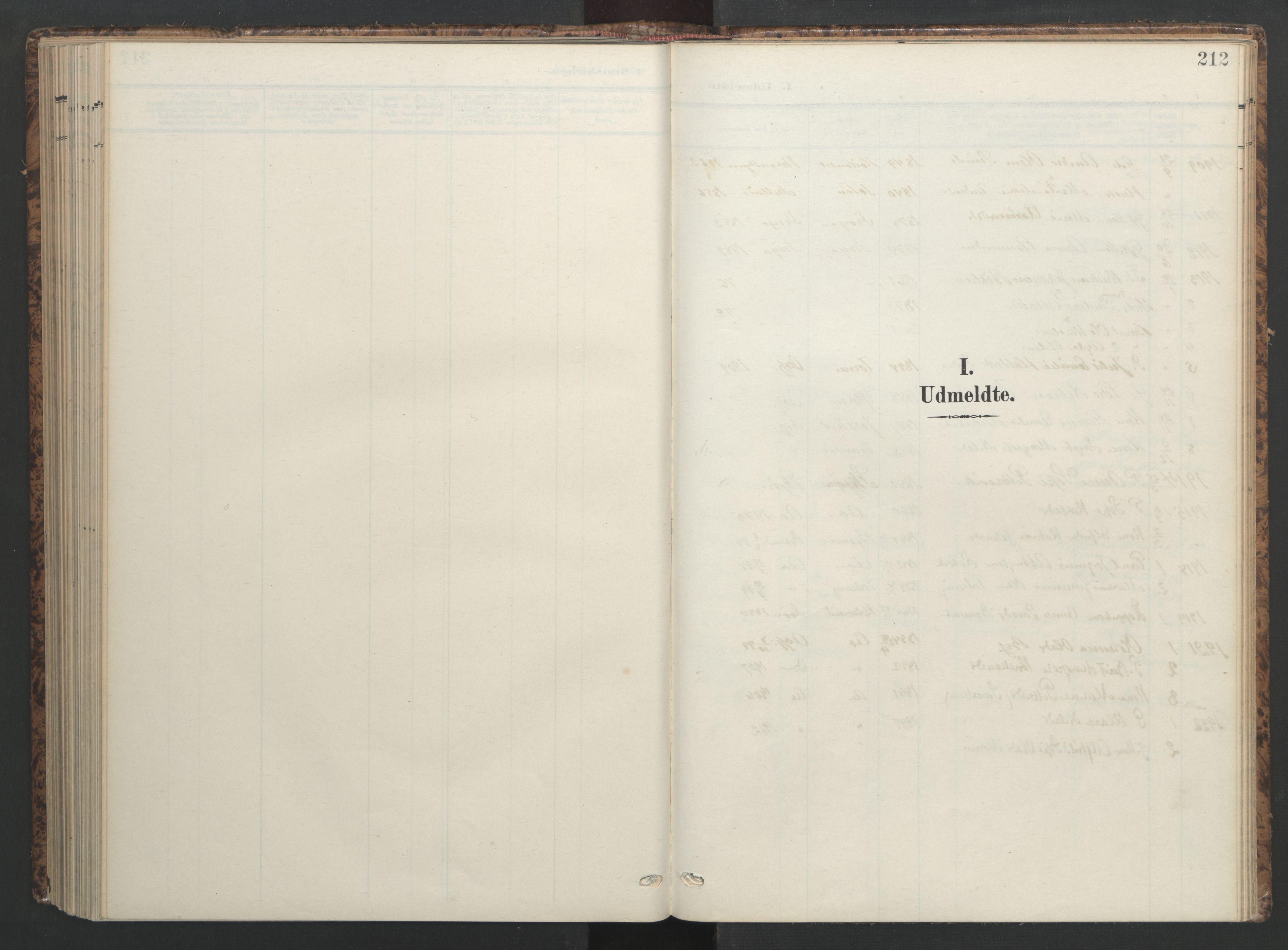 SAT, Ministerialprotokoller, klokkerbøker og fødselsregistre - Sør-Trøndelag, 655/L0682: Ministerialbok nr. 655A11, 1908-1922, s. 212