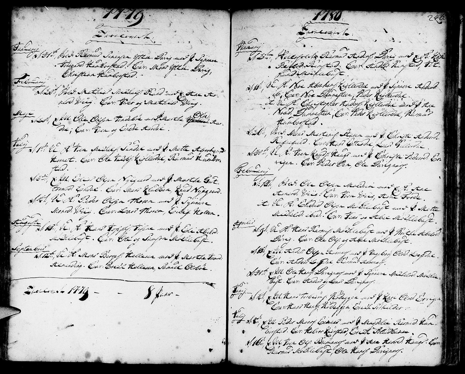 SAB, Davik Sokneprestembete, Ministerialbok nr. A 2, 1742-1816, s. 246