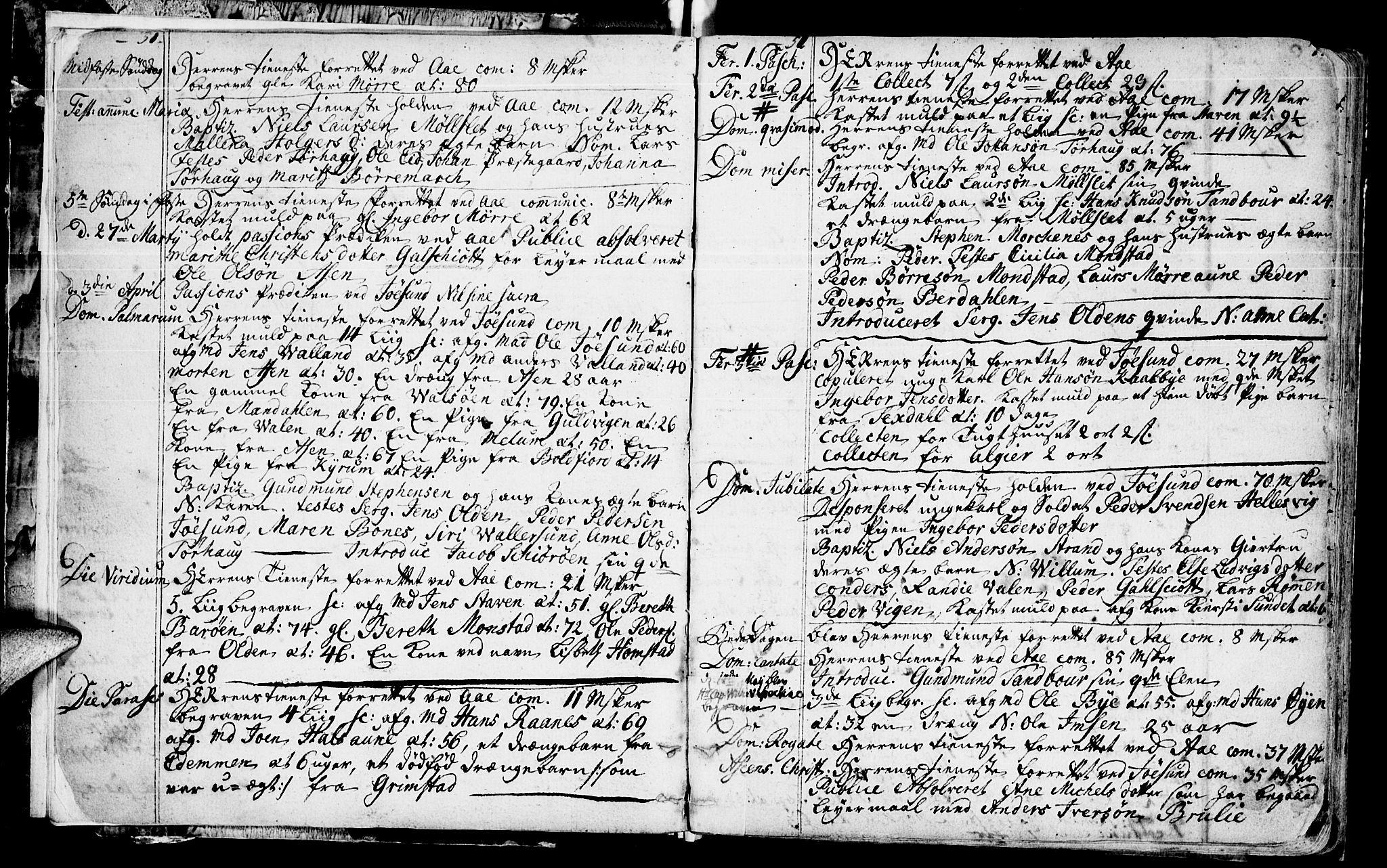 SAT, Ministerialprotokoller, klokkerbøker og fødselsregistre - Sør-Trøndelag, 655/L0672: Ministerialbok nr. 655A01, 1750-1779, s. 6-7