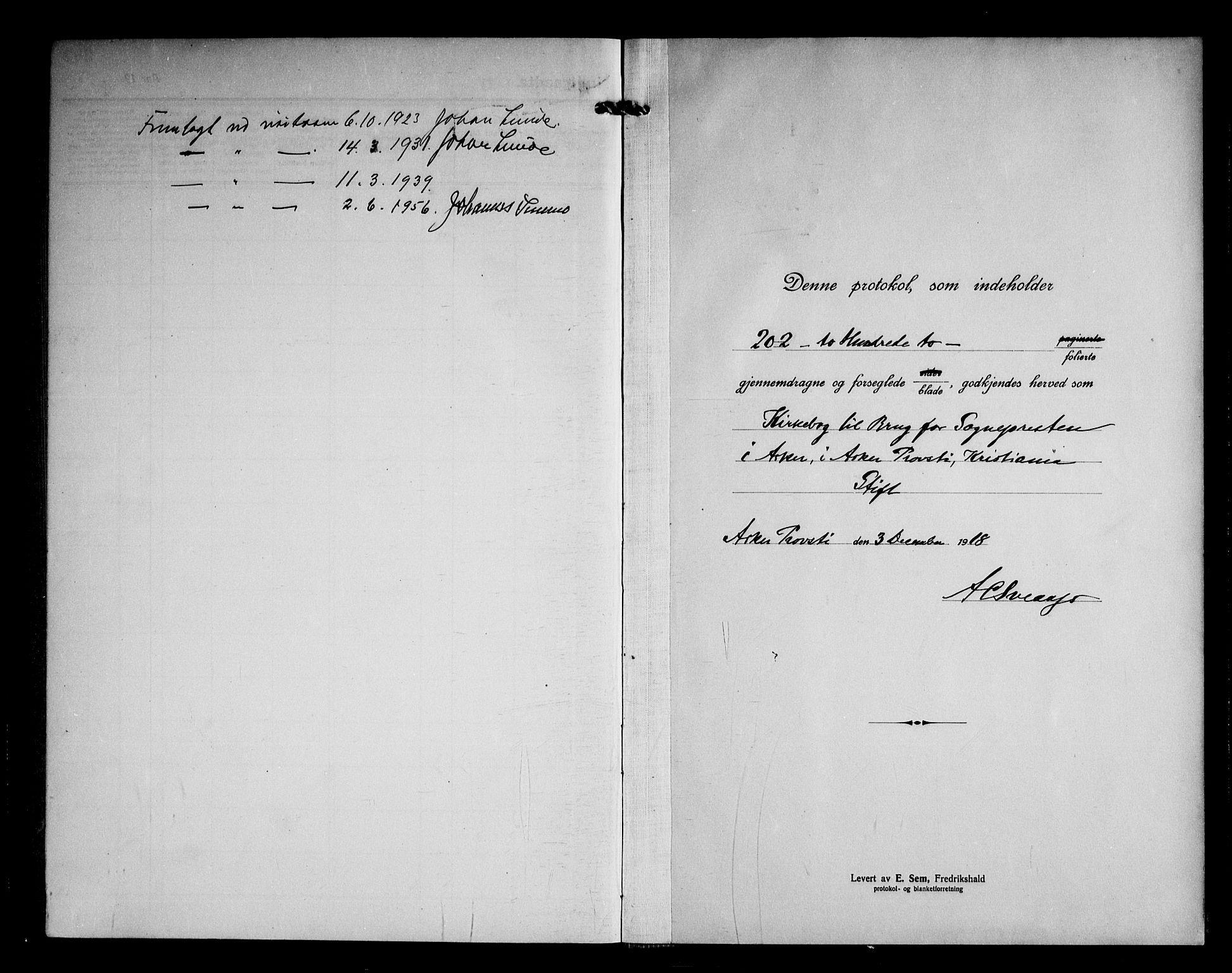 SAO, Asker prestekontor Kirkebøker, F/Fa/L0020: Ministerialbok nr. I 20, 1918-1948