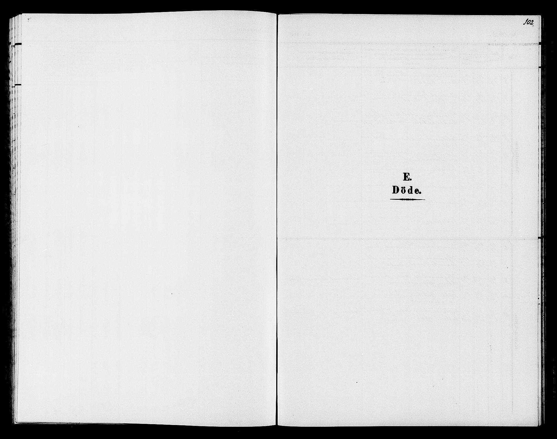 SAH, Søndre Land prestekontor, L/L0005: Klokkerbok nr. 5, 1902-1911, s. 102