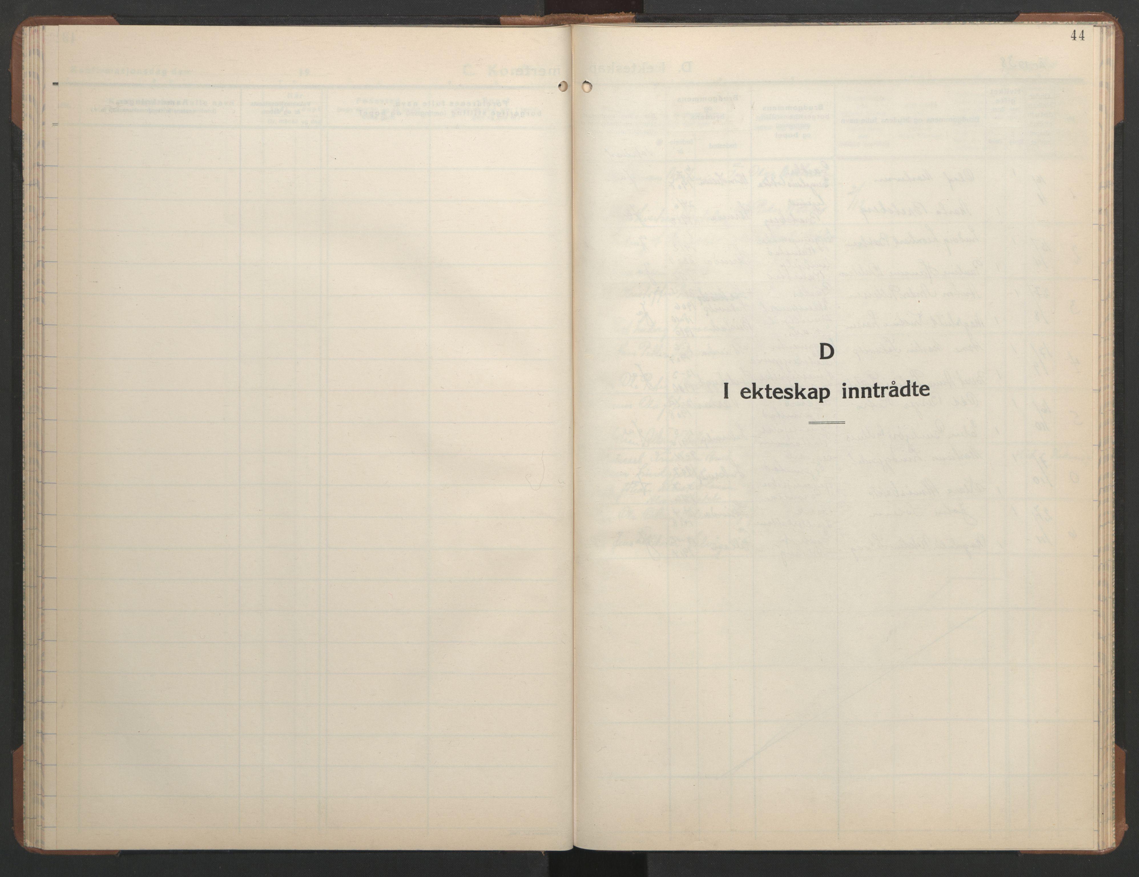 SAT, Ministerialprotokoller, klokkerbøker og fødselsregistre - Sør-Trøndelag, 608/L0343: Klokkerbok nr. 608C09, 1938-1952, s. 44