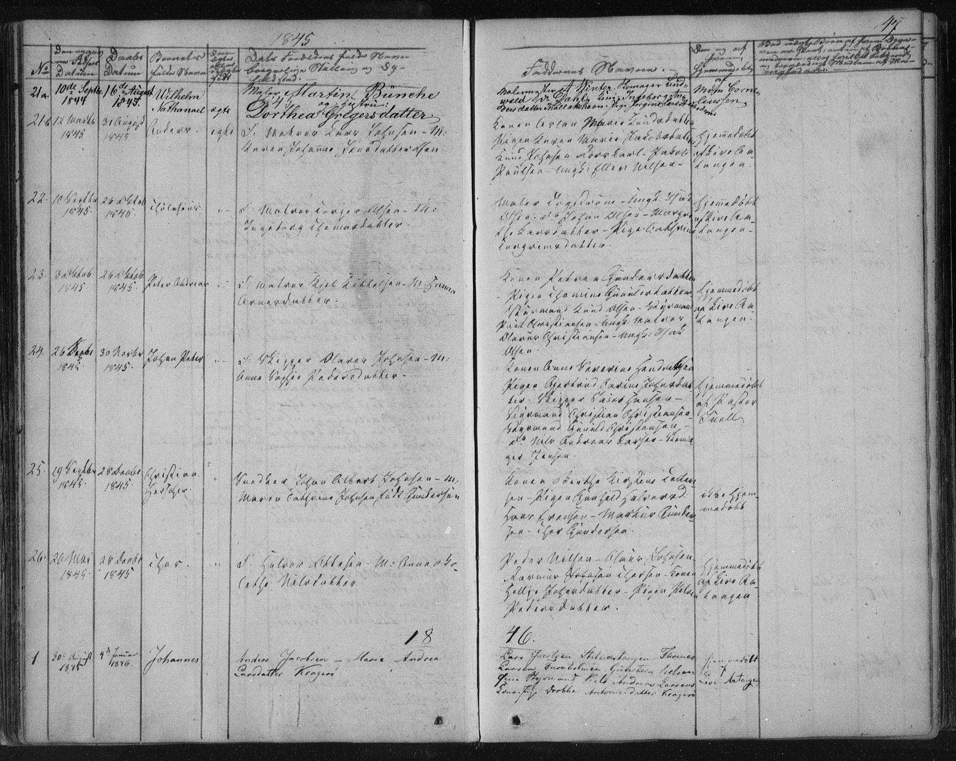 SAKO, Kragerø kirkebøker, F/Fa/L0005: Ministerialbok nr. 5, 1832-1847, s. 47