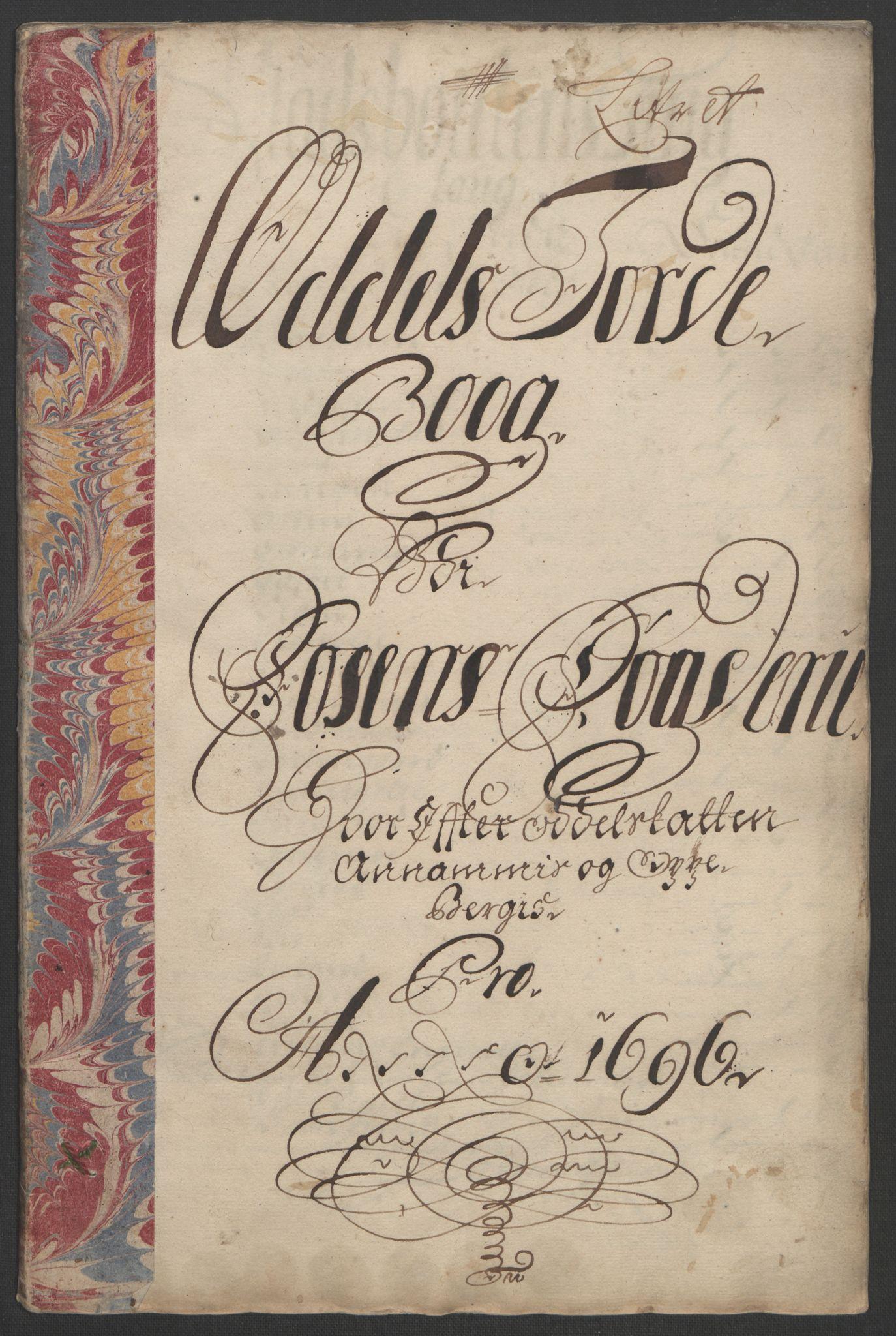 RA, Rentekammeret inntil 1814, Reviderte regnskaper, Fogderegnskap, R57/L3851: Fogderegnskap Fosen, 1695-1696, s. 207