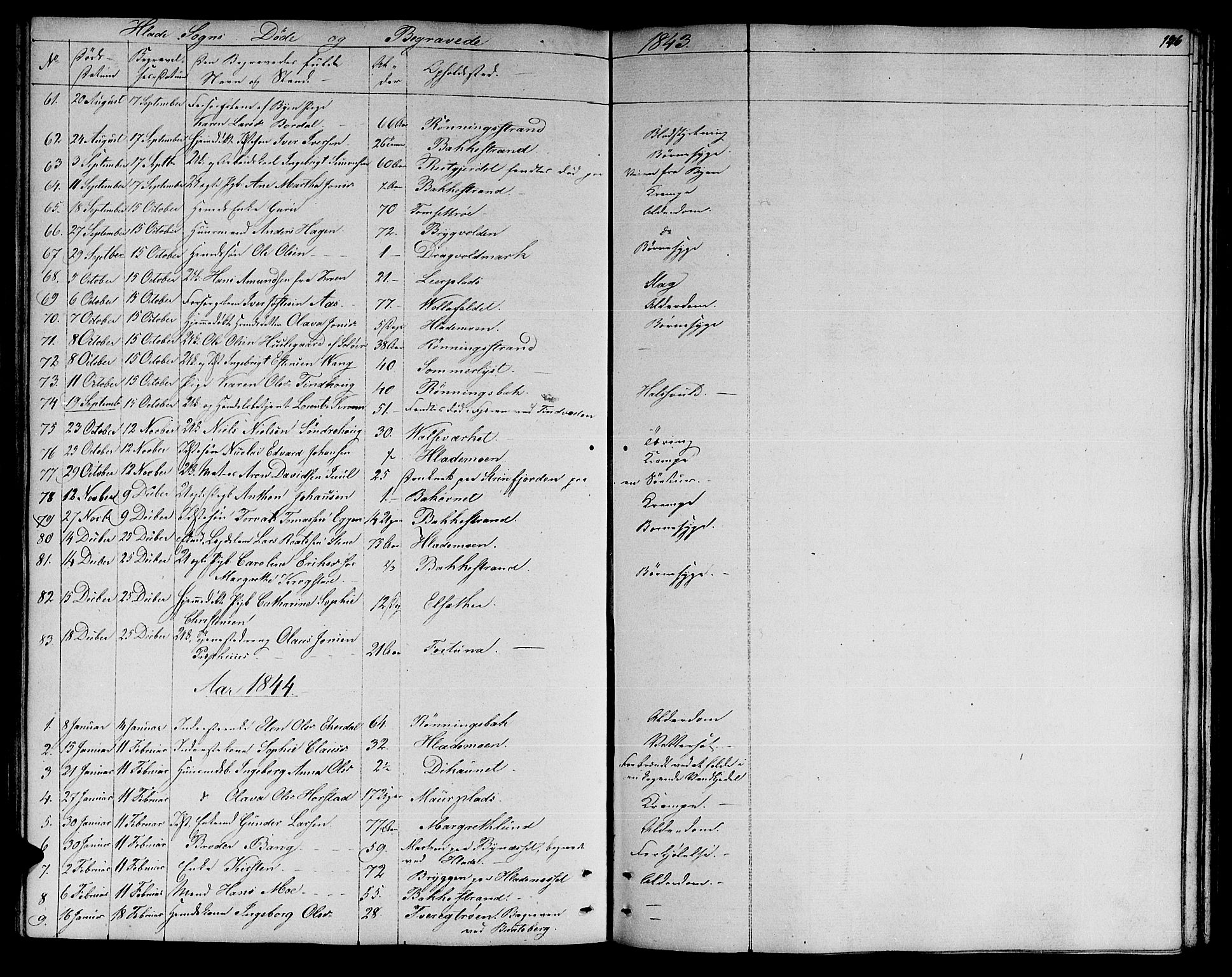 SAT, Ministerialprotokoller, klokkerbøker og fødselsregistre - Sør-Trøndelag, 606/L0309: Klokkerbok nr. 606C05, 1841-1849, s. 146