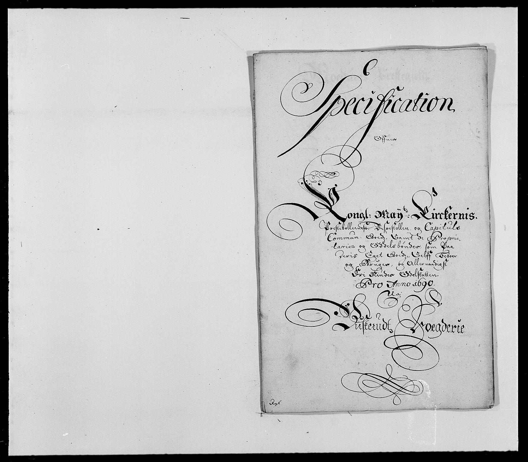 RA, Rentekammeret inntil 1814, Reviderte regnskaper, Fogderegnskap, R25/L1680: Fogderegnskap Buskerud, 1689-1690, s. 461