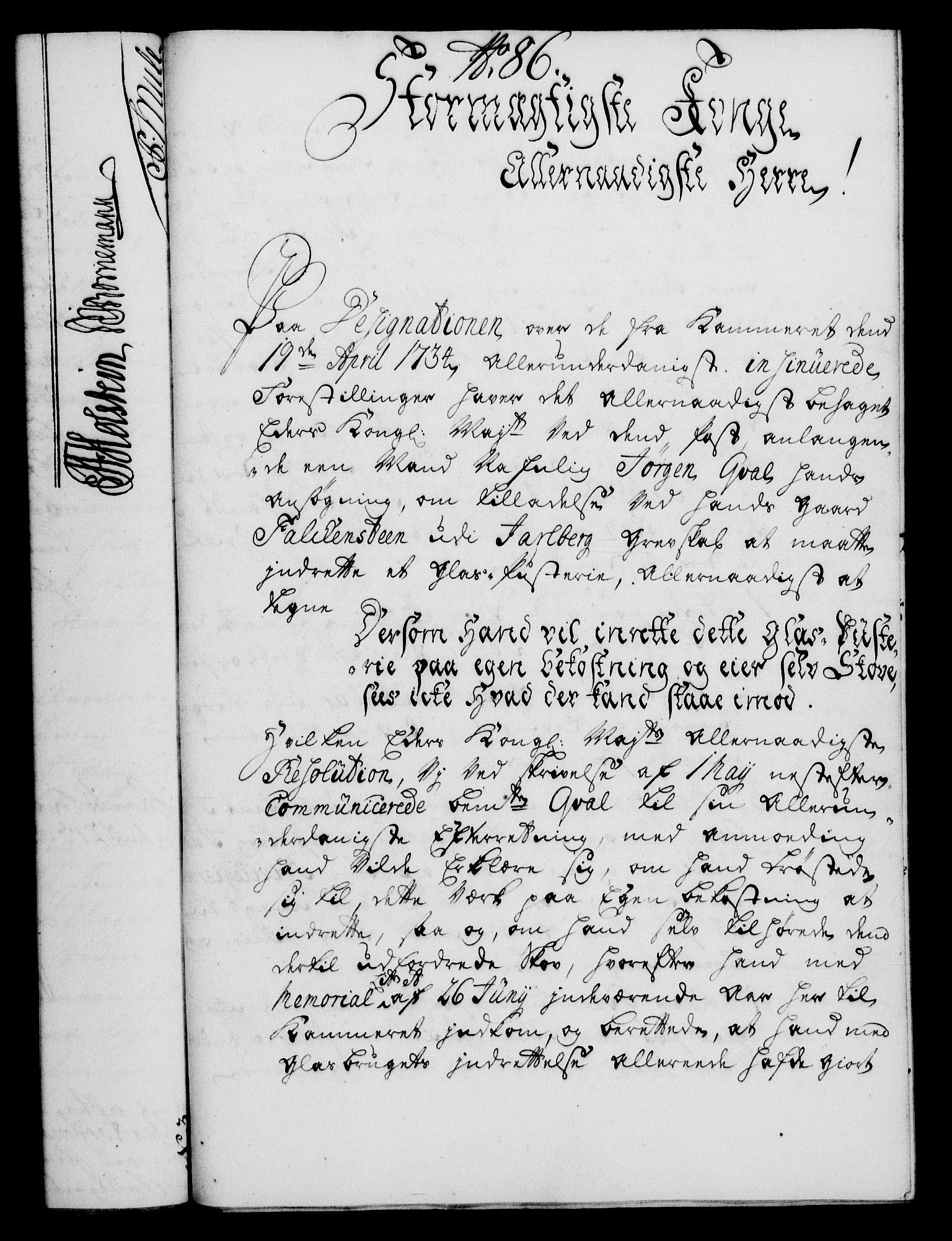 RA, Rentekammeret, Kammerkanselliet, G/Gf/Gfa/L0019: Norsk relasjons- og resolusjonsprotokoll (merket RK 52.19), 1736, s. 563