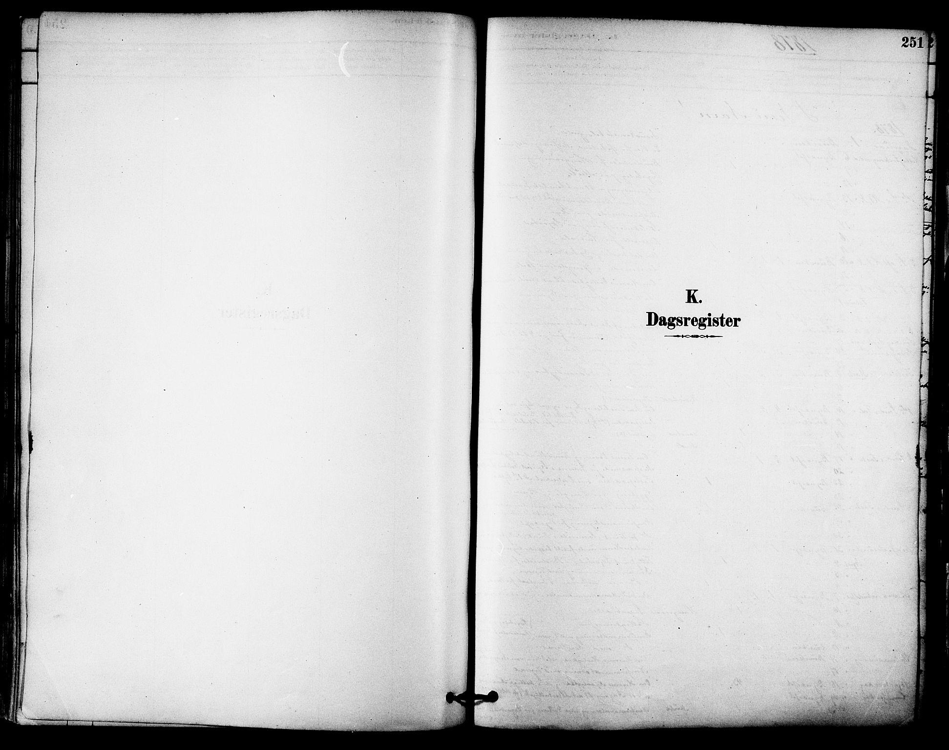 SAT, Ministerialprotokoller, klokkerbøker og fødselsregistre - Sør-Trøndelag, 612/L0378: Ministerialbok nr. 612A10, 1878-1897, s. 251