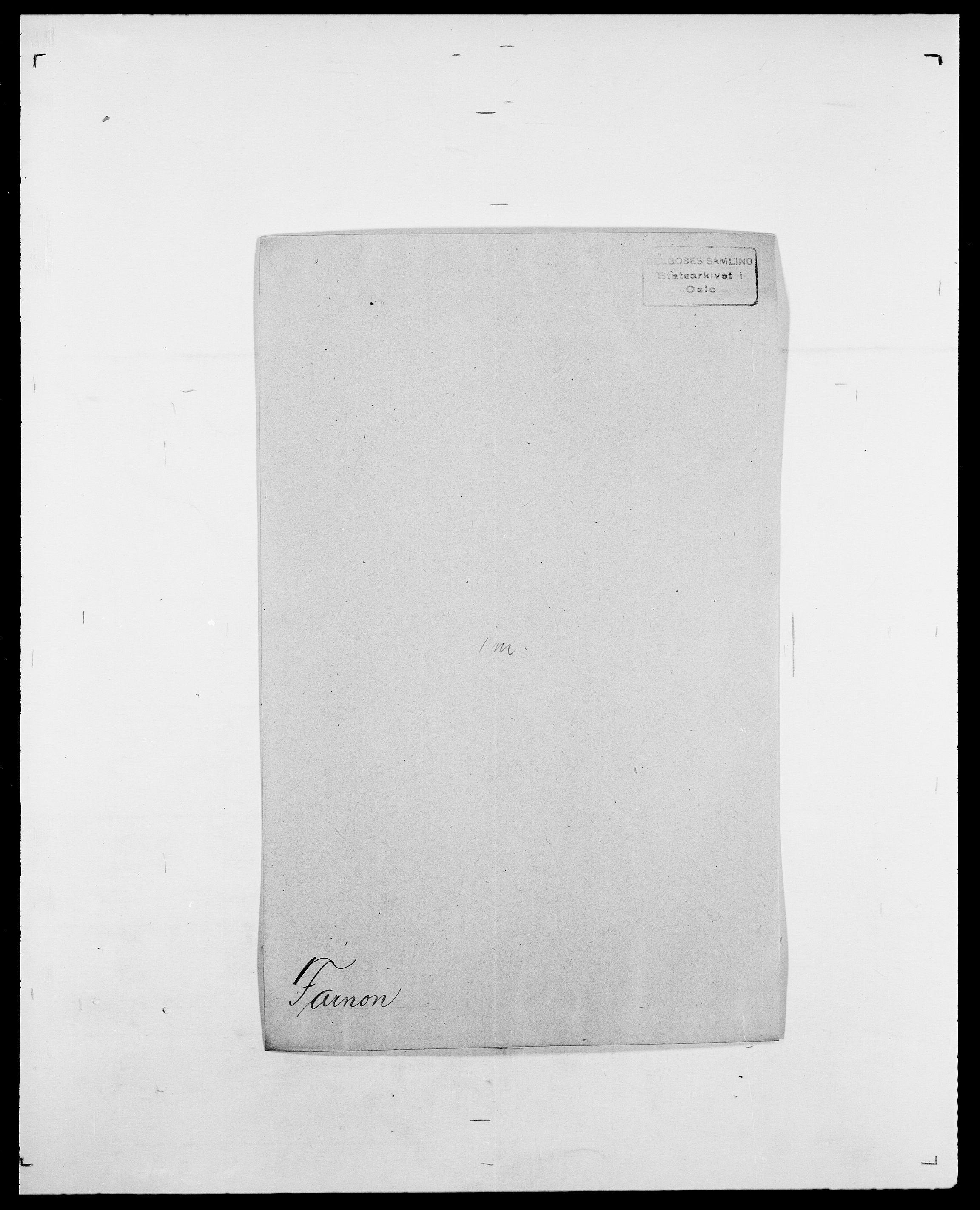 SAO, Delgobe, Charles Antoine - samling, D/Da/L0011: Fahlander - Flood, Flod, s. 184