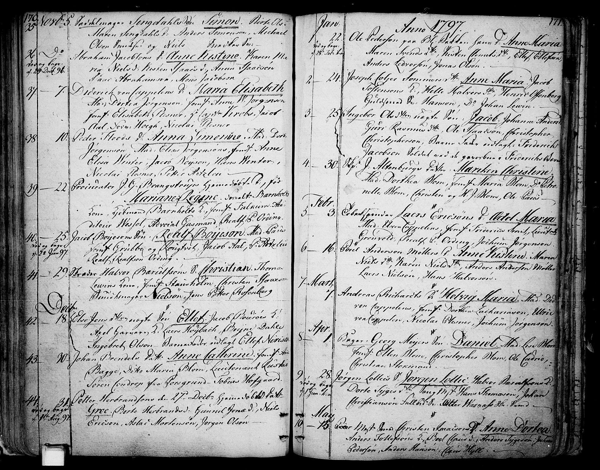 SAKO, Skien kirkebøker, F/Fa/L0004: Ministerialbok nr. 4, 1792-1814, s. 170-171