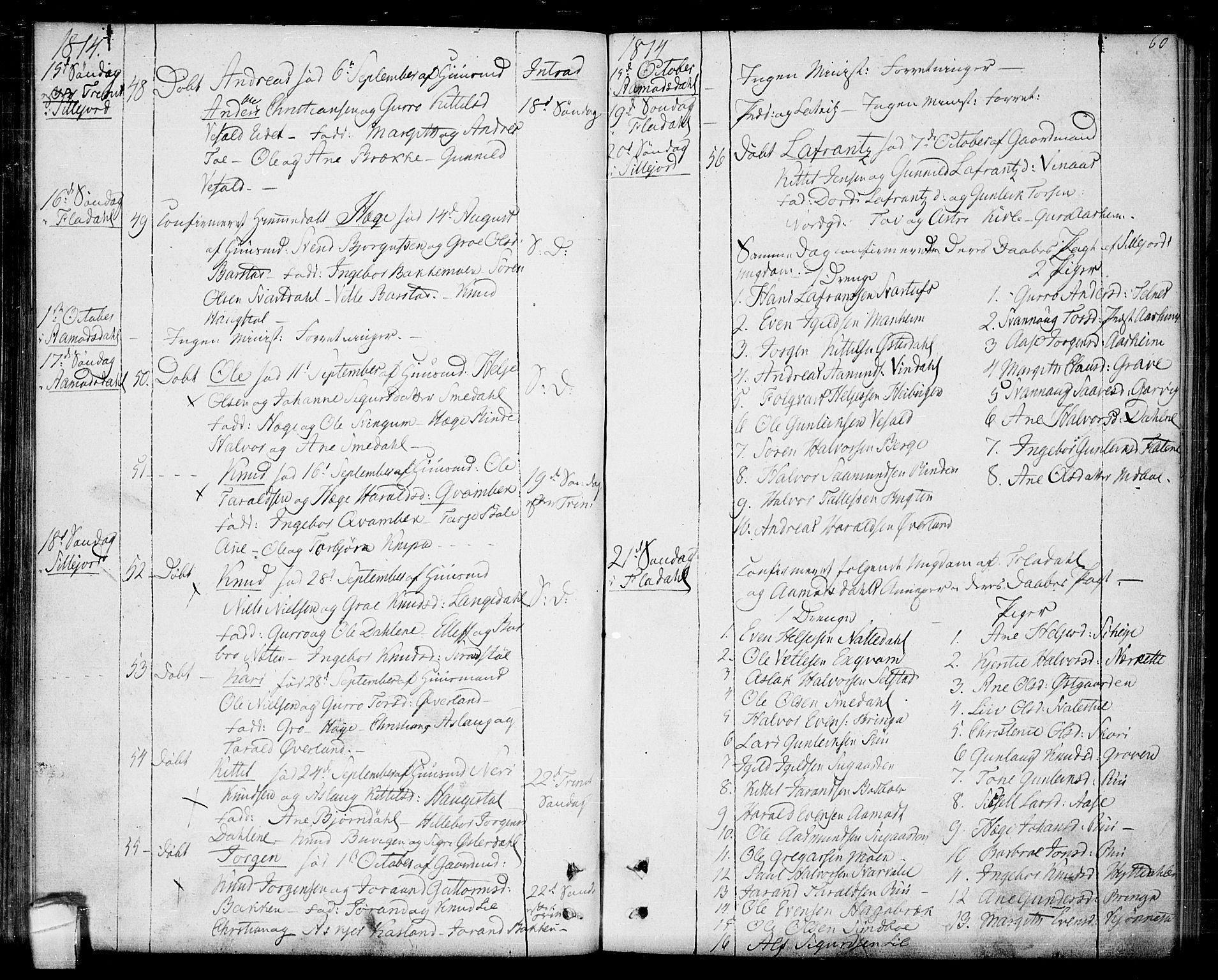SAKO, Seljord kirkebøker, F/Fa/L0009: Ministerialbok nr. I 9, 1801-1814, s. 60