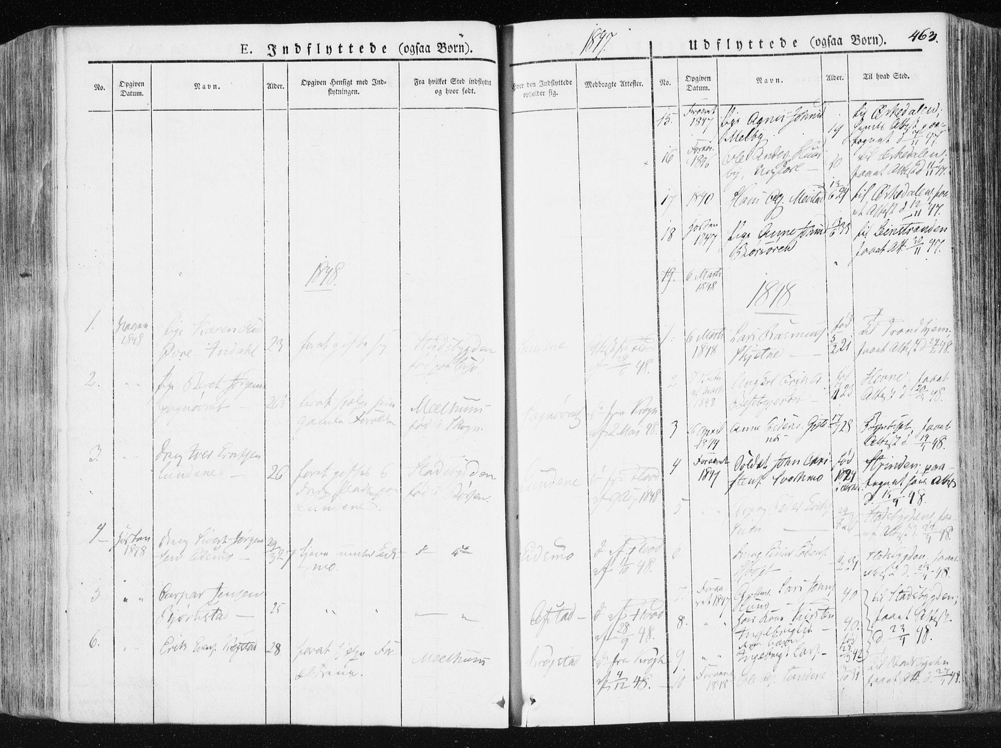 SAT, Ministerialprotokoller, klokkerbøker og fødselsregistre - Sør-Trøndelag, 665/L0771: Ministerialbok nr. 665A06, 1830-1856, s. 463