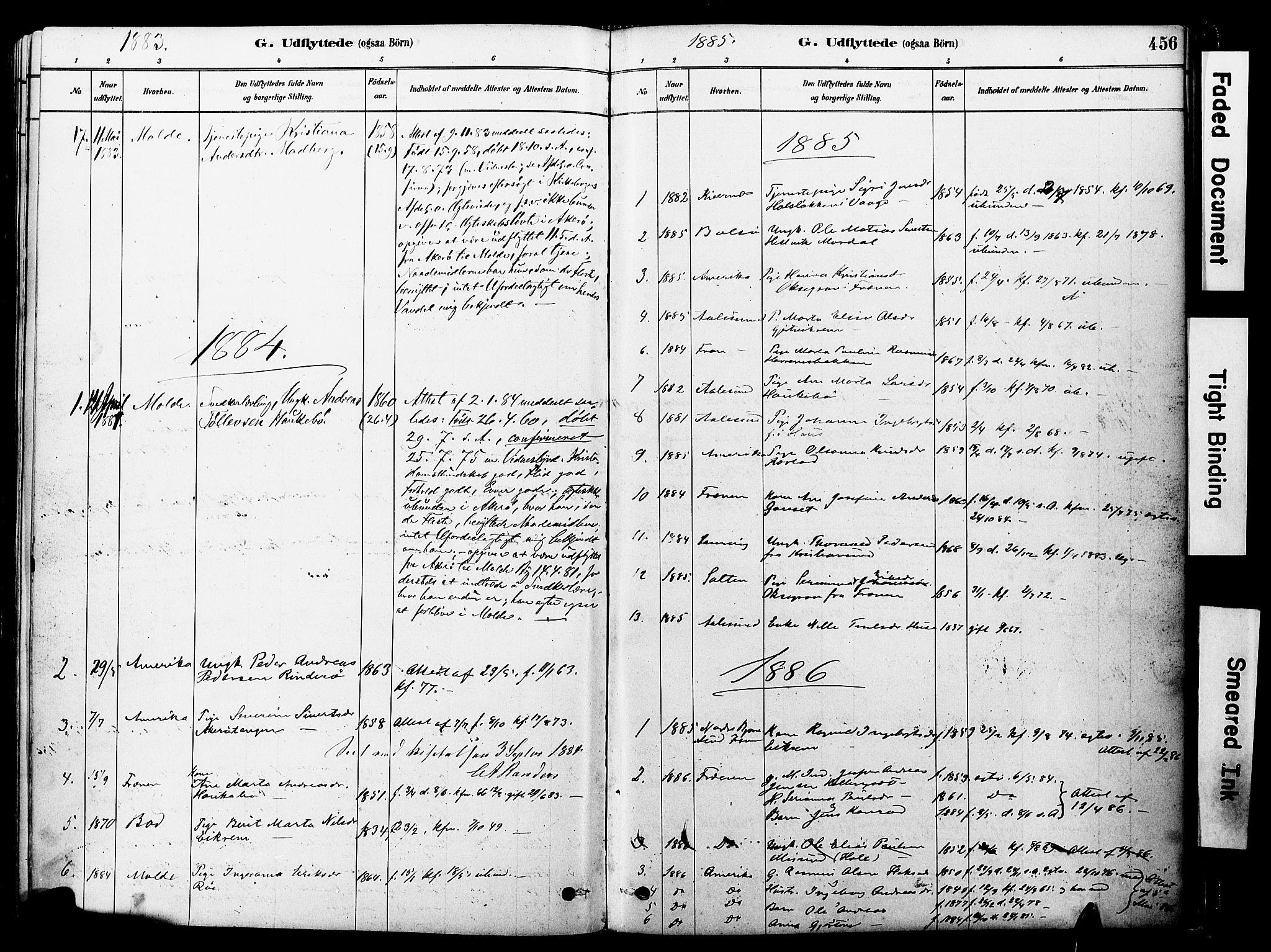 SAT, Ministerialprotokoller, klokkerbøker og fødselsregistre - Møre og Romsdal, 560/L0721: Ministerialbok nr. 560A05, 1878-1917, s. 456