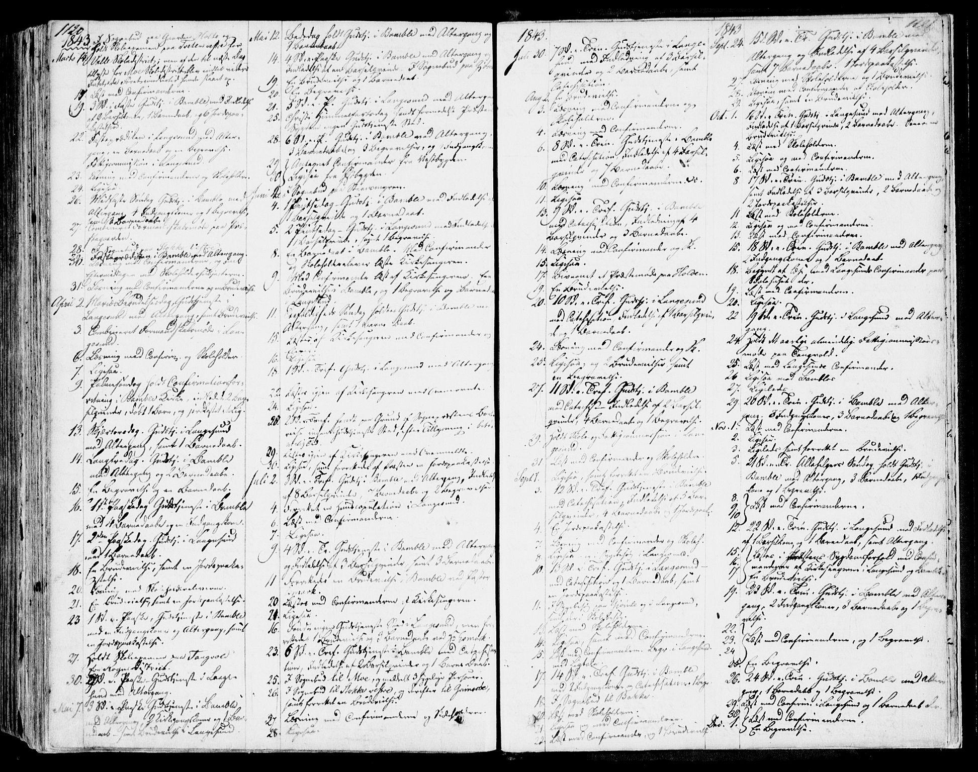 SAKO, Bamble kirkebøker, F/Fa/L0004: Ministerialbok nr. I 4, 1834-1853, s. 1120-1121