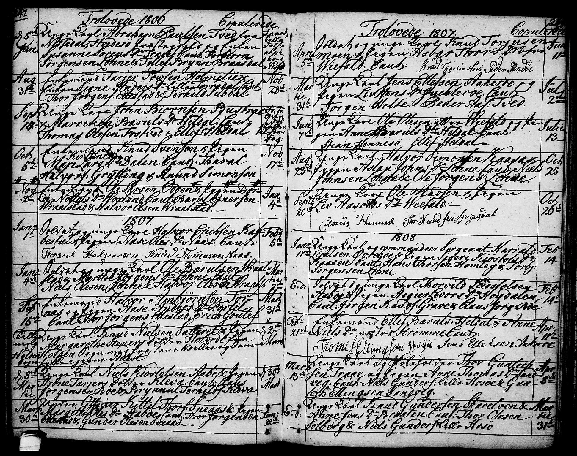 SAKO, Drangedal kirkebøker, F/Fa/L0003: Ministerialbok nr. 3, 1768-1814, s. 247-248