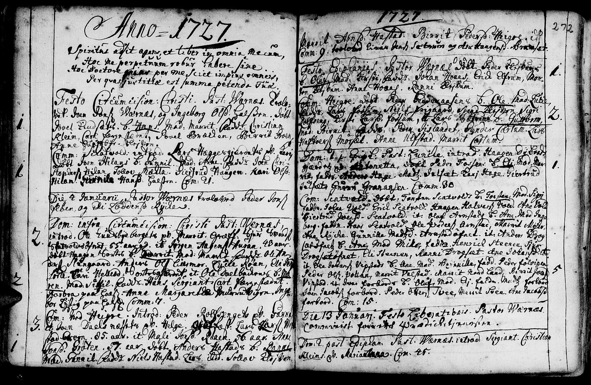 SAT, Ministerialprotokoller, klokkerbøker og fødselsregistre - Nord-Trøndelag, 709/L0054: Ministerialbok nr. 709A02, 1714-1738, s. 271-272