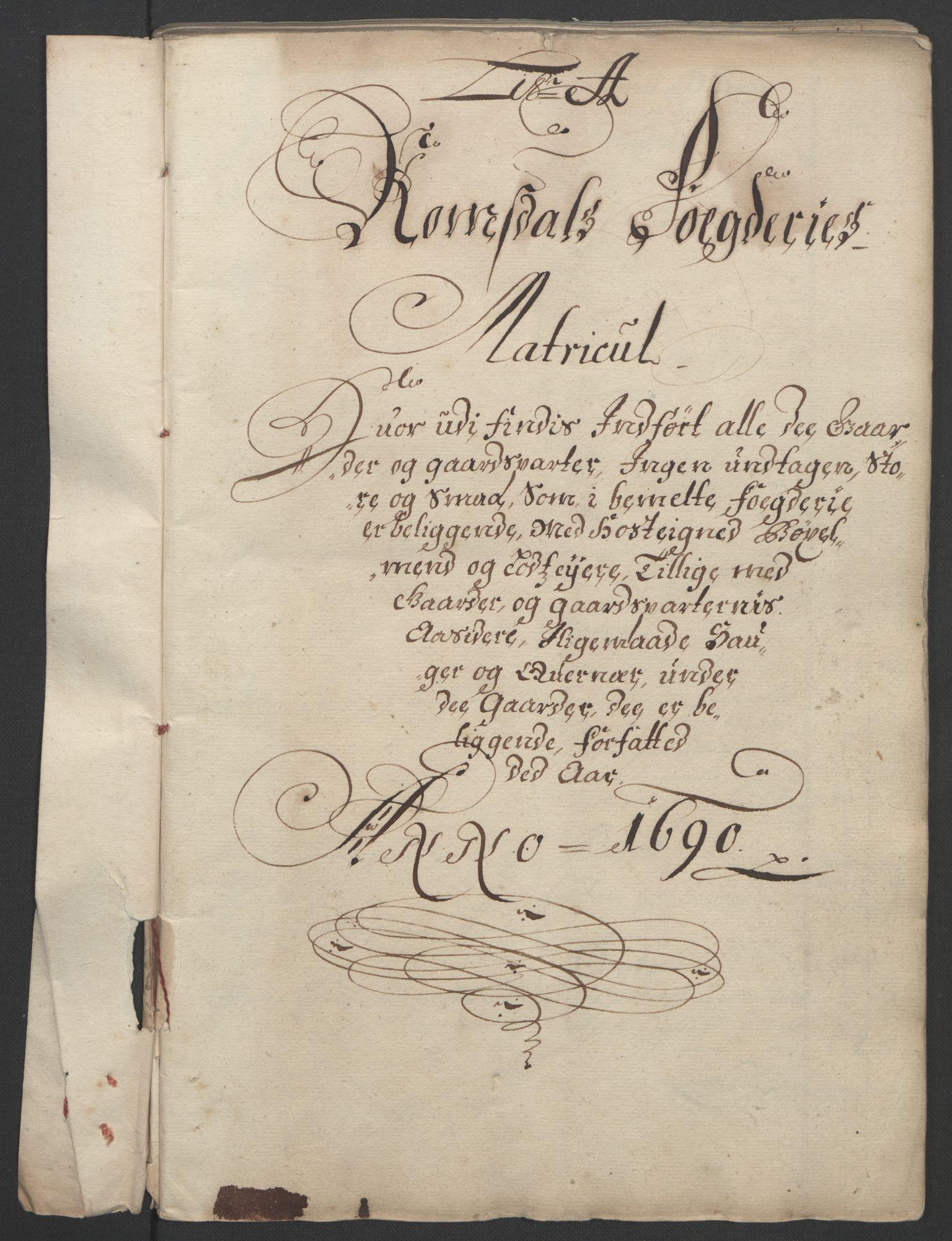 RA, Rentekammeret inntil 1814, Reviderte regnskaper, Fogderegnskap, R55/L3649: Fogderegnskap Romsdal, 1690-1691, s. 9