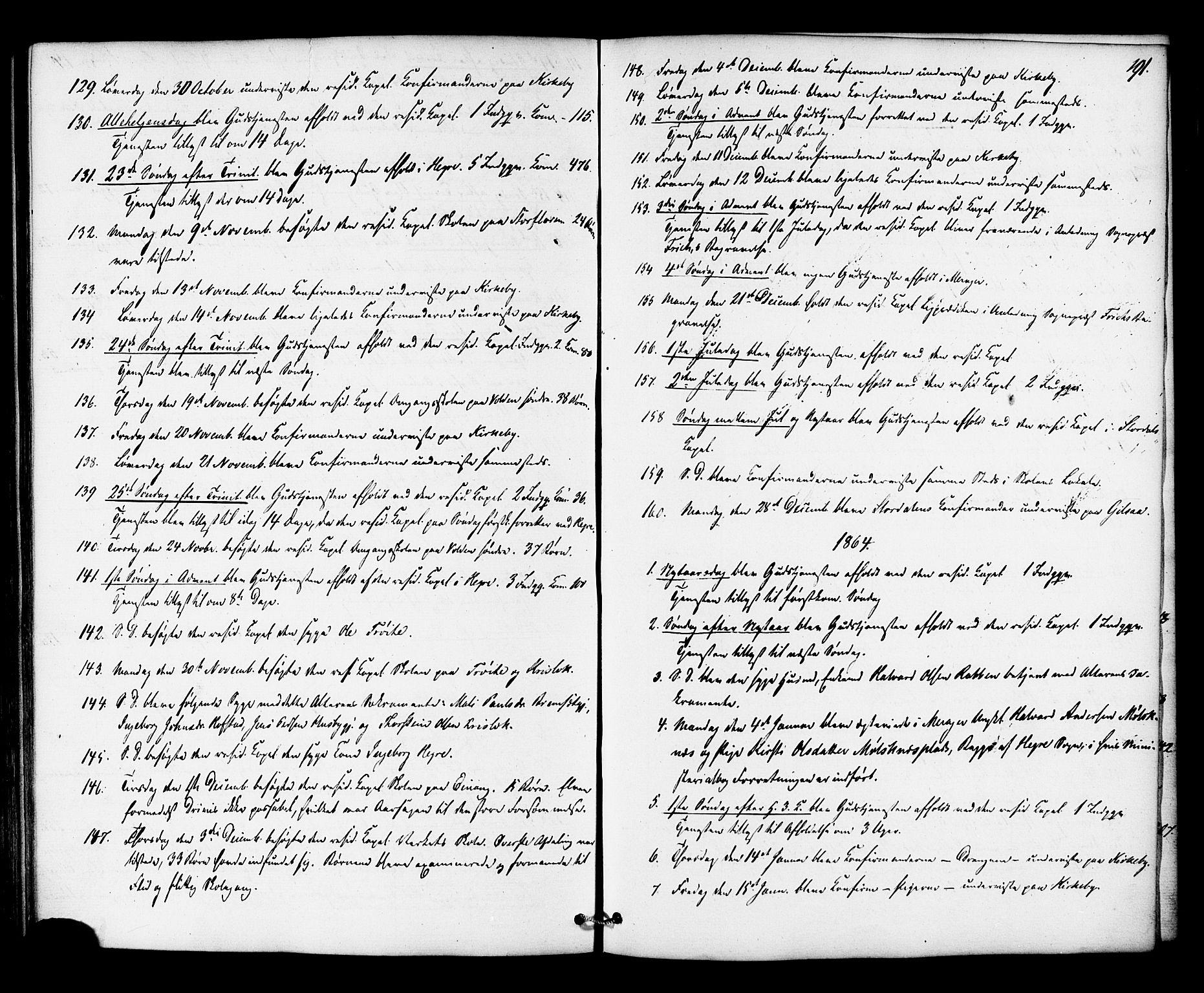 SAT, Ministerialprotokoller, klokkerbøker og fødselsregistre - Nord-Trøndelag, 706/L0041: Ministerialbok nr. 706A02, 1862-1877, s. 191