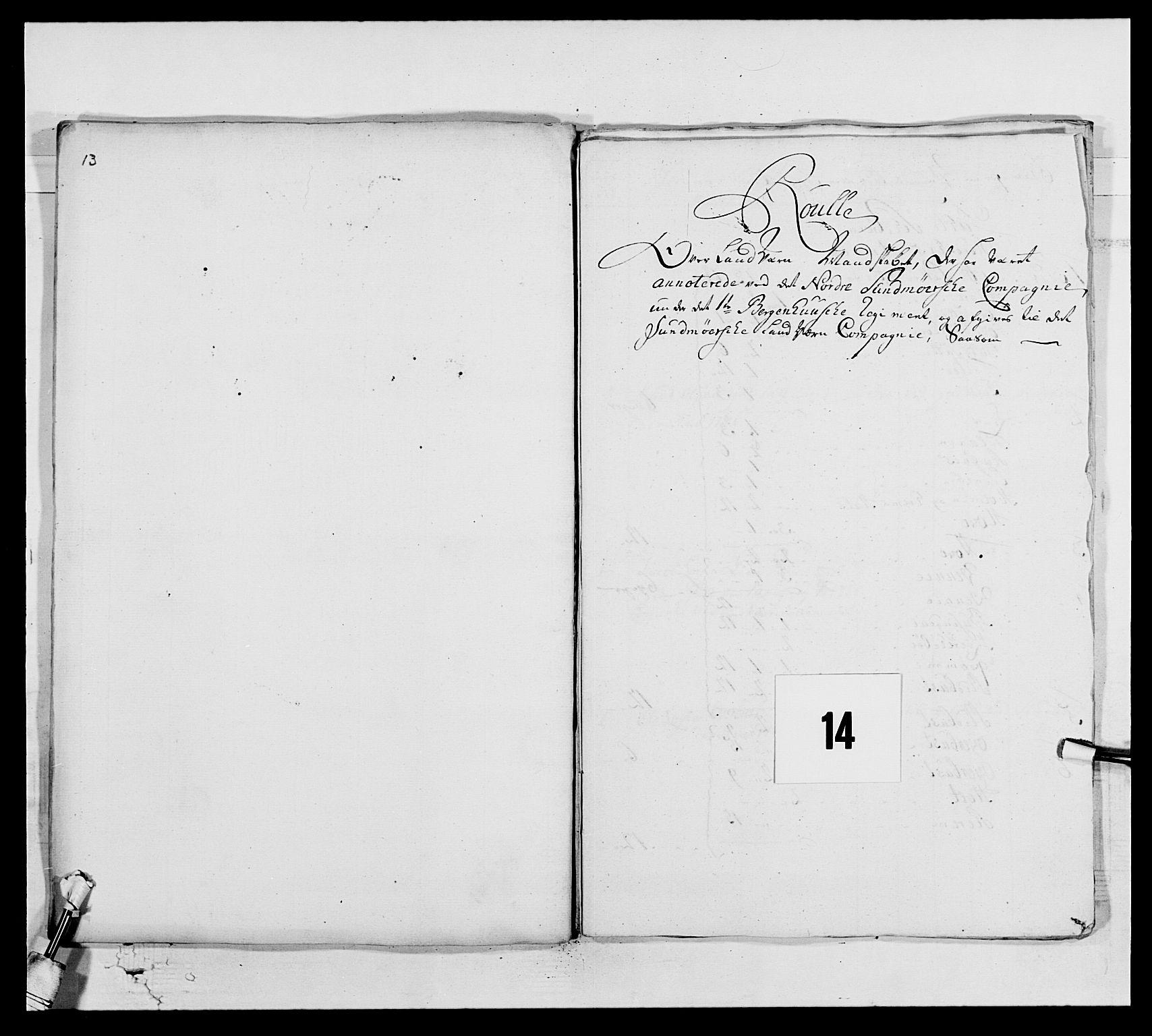 RA, Kommanderende general (KG I) med Det norske krigsdirektorium, E/Ea/L0517: 1. Bergenhusiske regiment, 1742-1756, s. 121