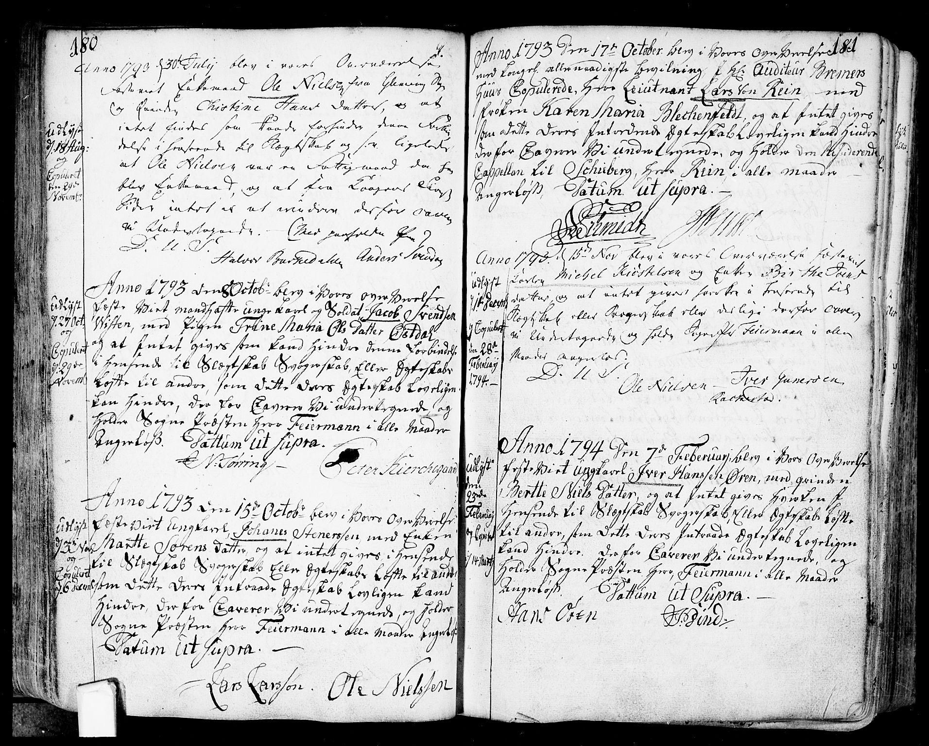 SAO, Fredrikstad prestekontor Kirkebøker, F/Fa/L0002: Ministerialbok nr. 2, 1750-1804, s. 180-181