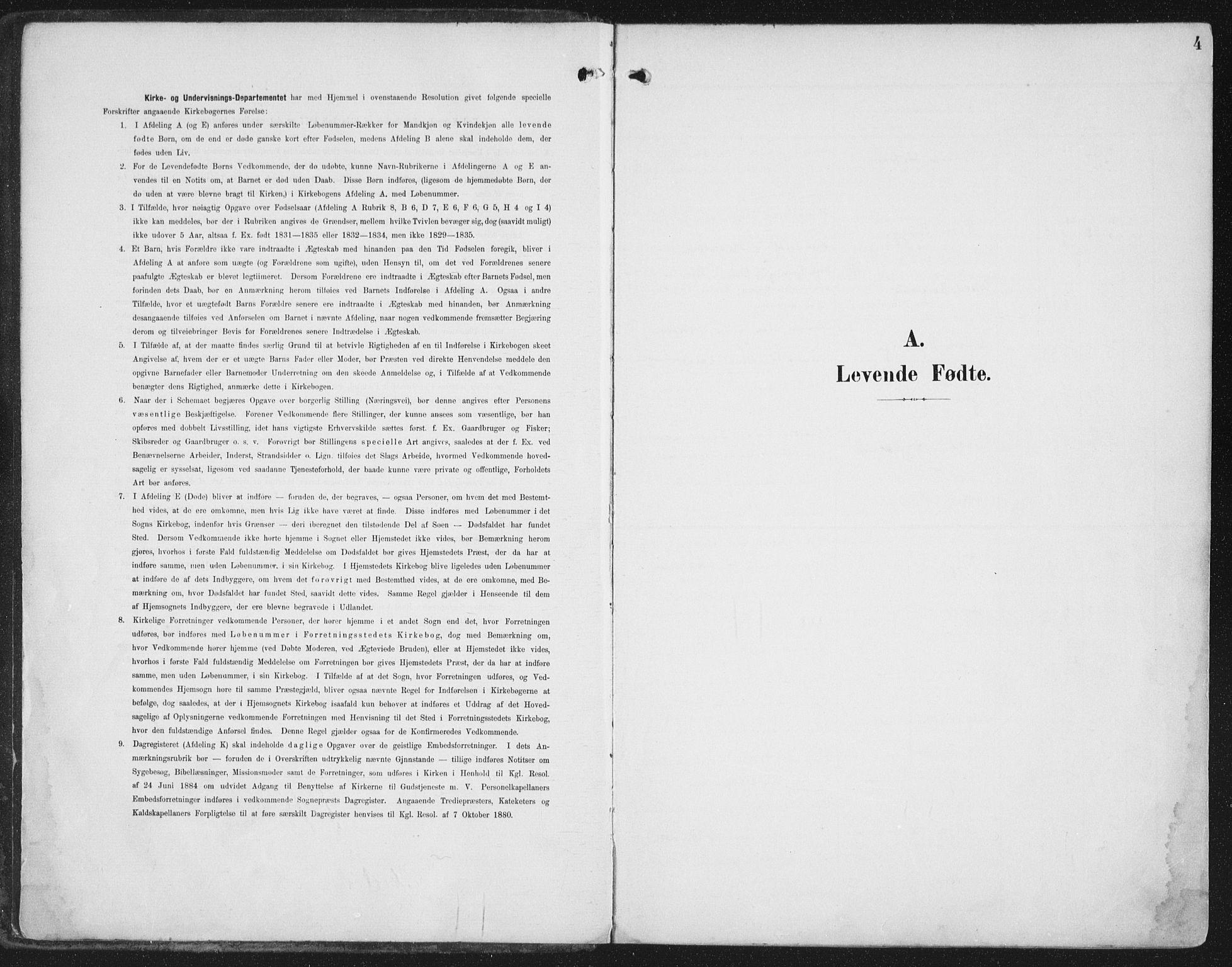 SAT, Ministerialprotokoller, klokkerbøker og fødselsregistre - Nord-Trøndelag, 786/L0688: Ministerialbok nr. 786A04, 1899-1912, s. 4
