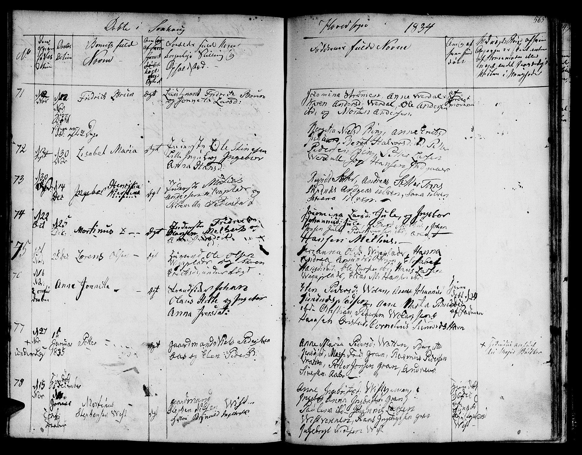 SAT, Ministerialprotokoller, klokkerbøker og fødselsregistre - Nord-Trøndelag, 730/L0277: Ministerialbok nr. 730A06 /1, 1830-1839, s. 565