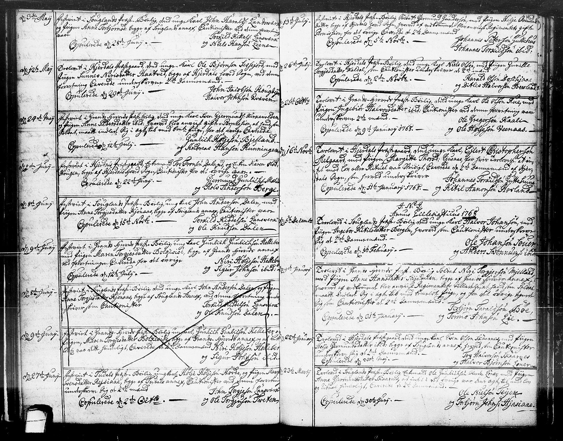 SAKO, Hjartdal kirkebøker, F/Fa/L0004: Ministerialbok nr. I 4, 1727-1795, s. 46