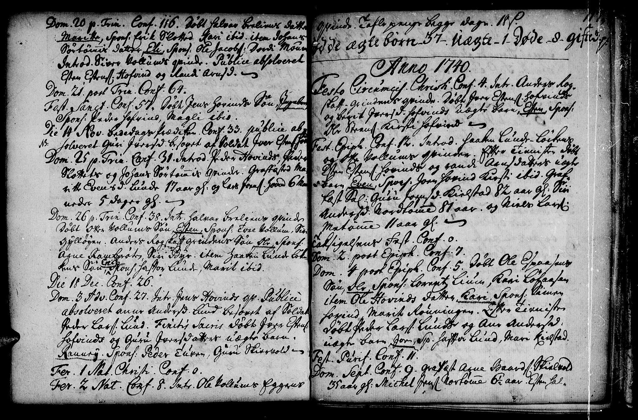 SAT, Ministerialprotokoller, klokkerbøker og fødselsregistre - Sør-Trøndelag, 692/L1101: Ministerialbok nr. 692A01, 1690-1746, s. 117