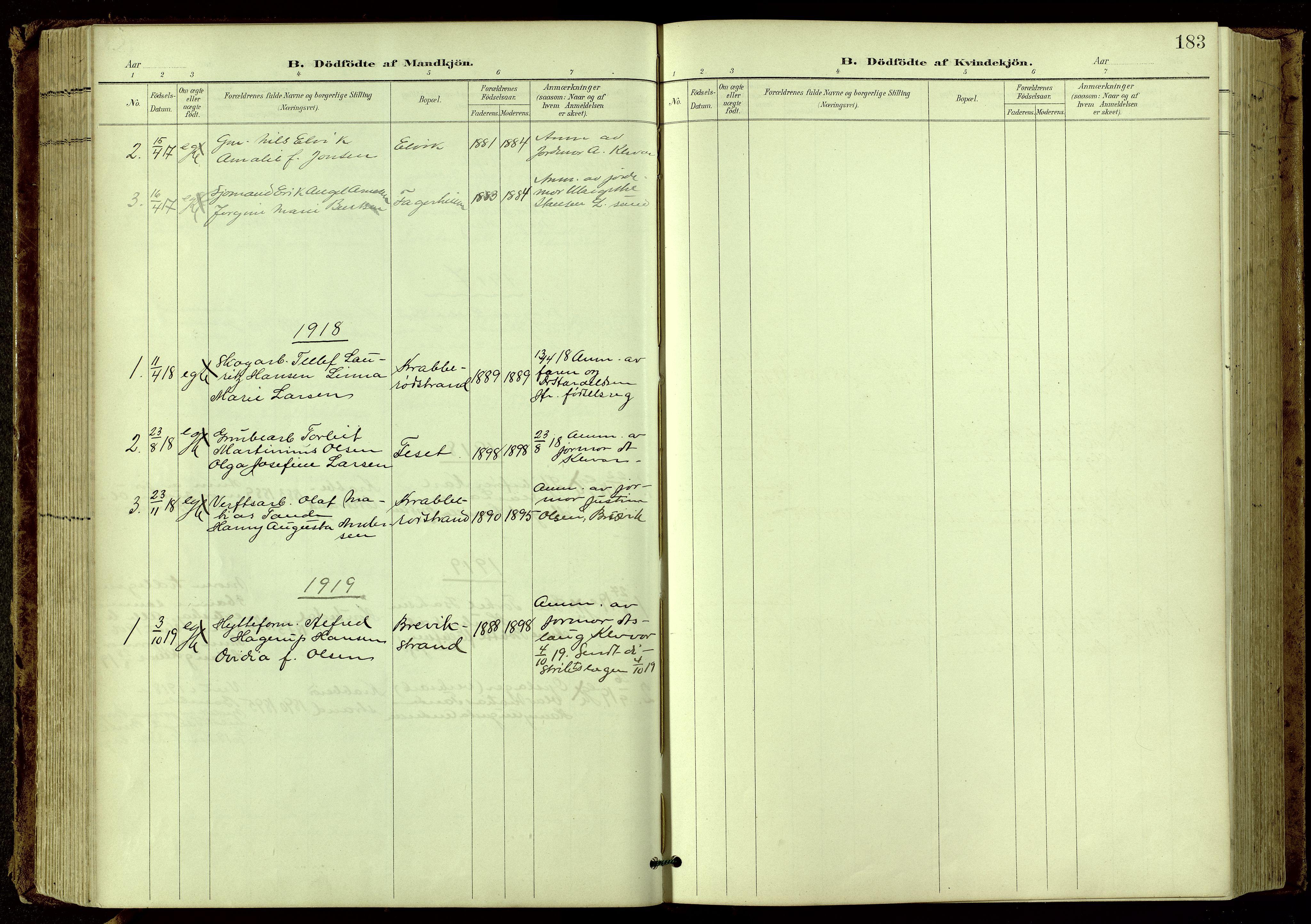 SAKO, Bamble kirkebøker, G/Ga/L0010: Klokkerbok nr. I 10, 1901-1919, s. 183