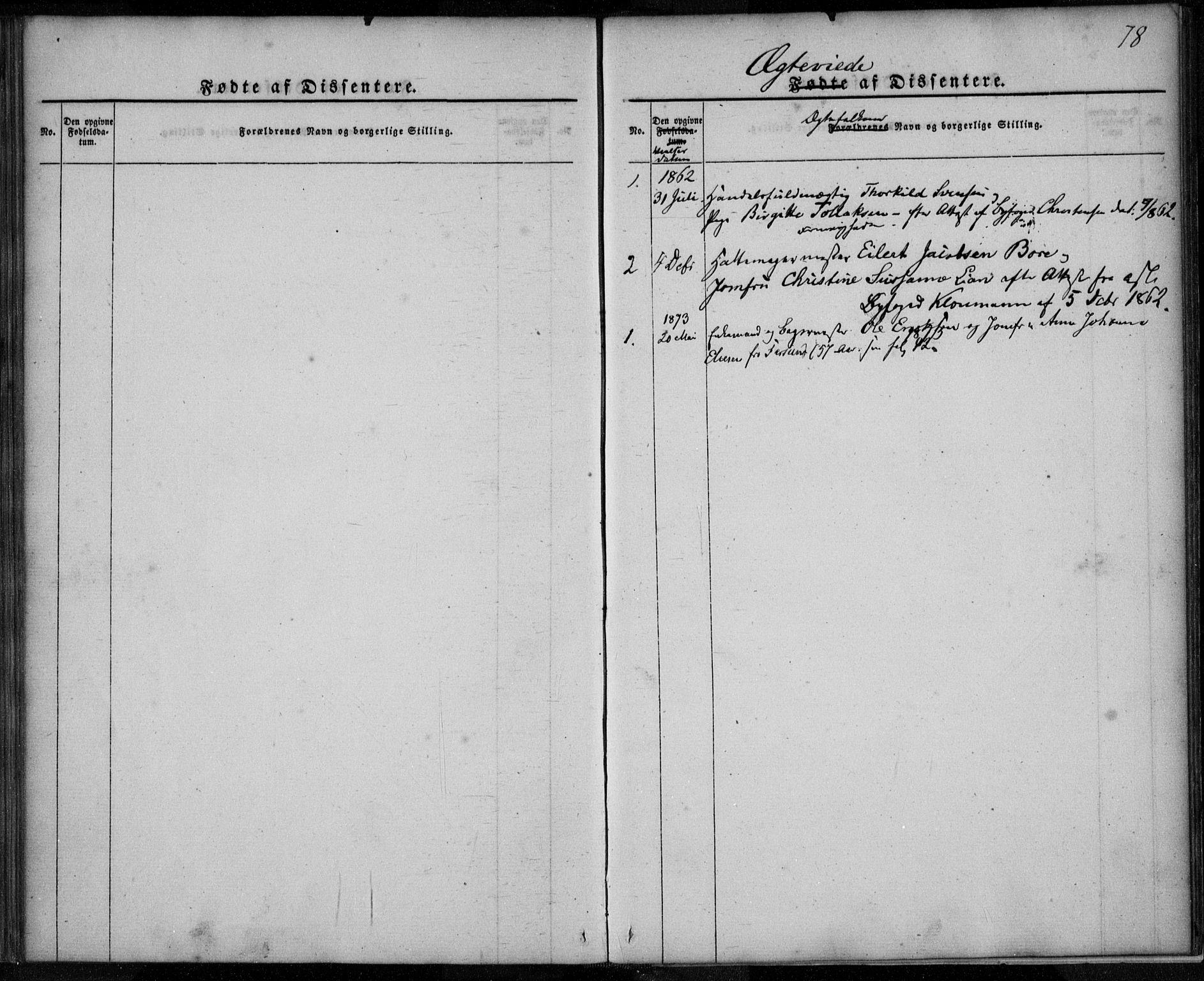 SAST, Domkirken sokneprestkontor, 30/30BA/L0021: Ministerialbok nr. A 20, 1860-1877, s. 78