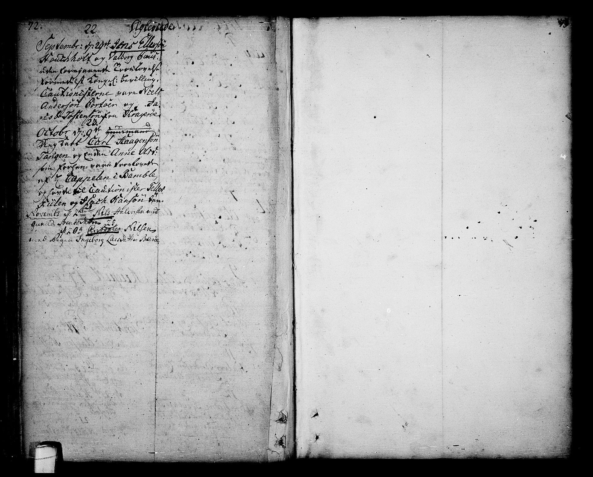 SAKO, Sannidal kirkebøker, F/Fa/L0001: Ministerialbok nr. 1, 1702-1766, s. 72-73