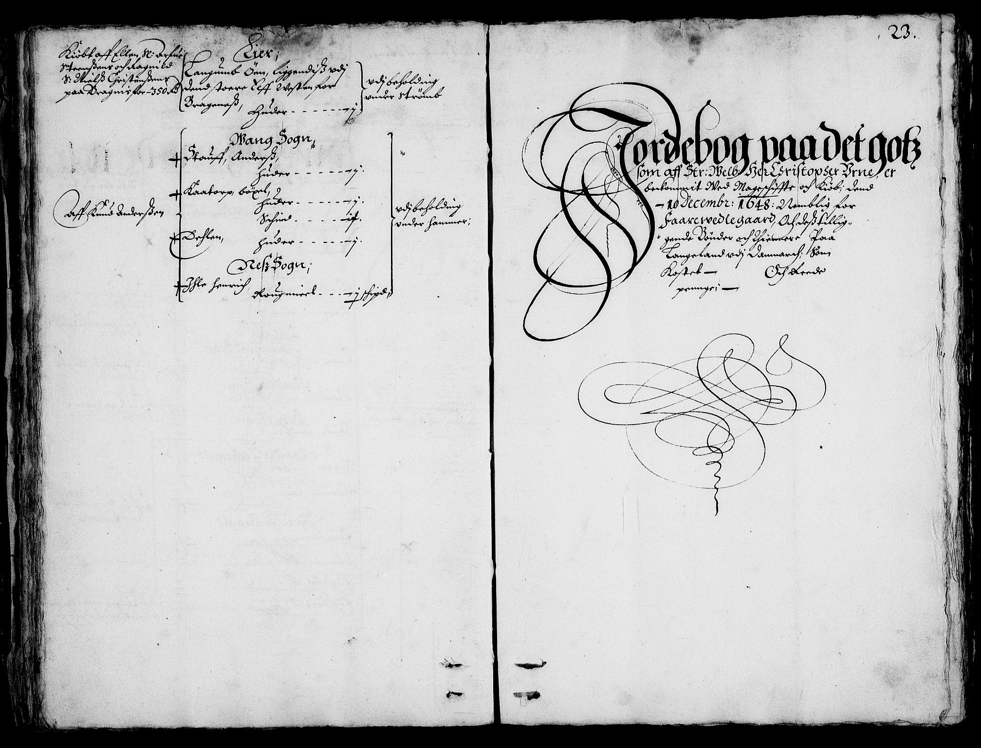 RA, Rentekammeret inntil 1814, Realistisk ordnet avdeling, On/L0001: Statens gods, 1651, s. 22b-23a