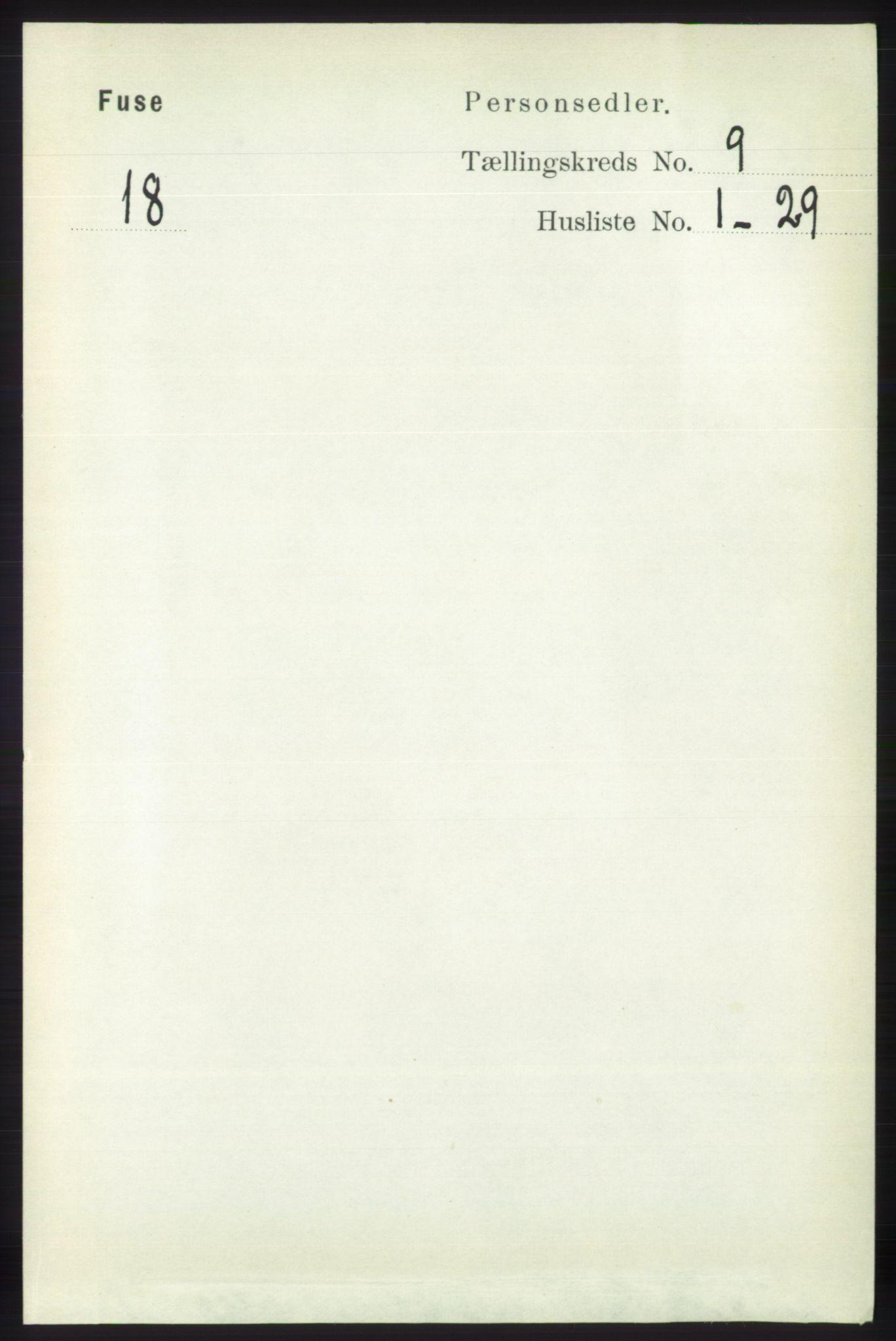 RA, Folketelling 1891 for 1241 Fusa herred, 1891, s. 1691