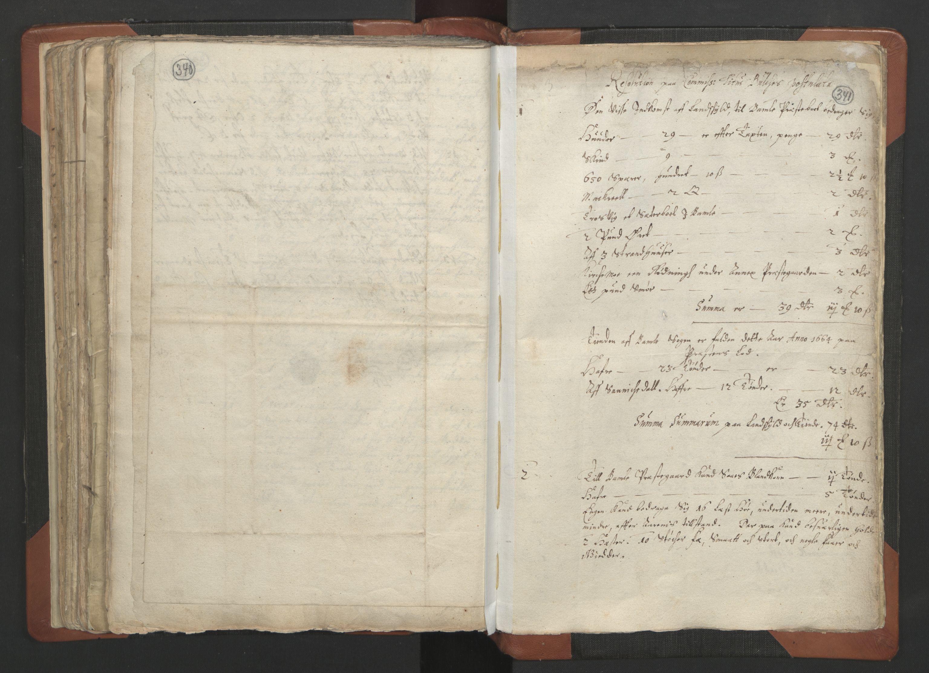 RA, Sogneprestenes manntall 1664-1666, nr. 12: Øvre Telemark prosti, Nedre Telemark prosti og Bamble prosti, 1664-1666, s. 340-341