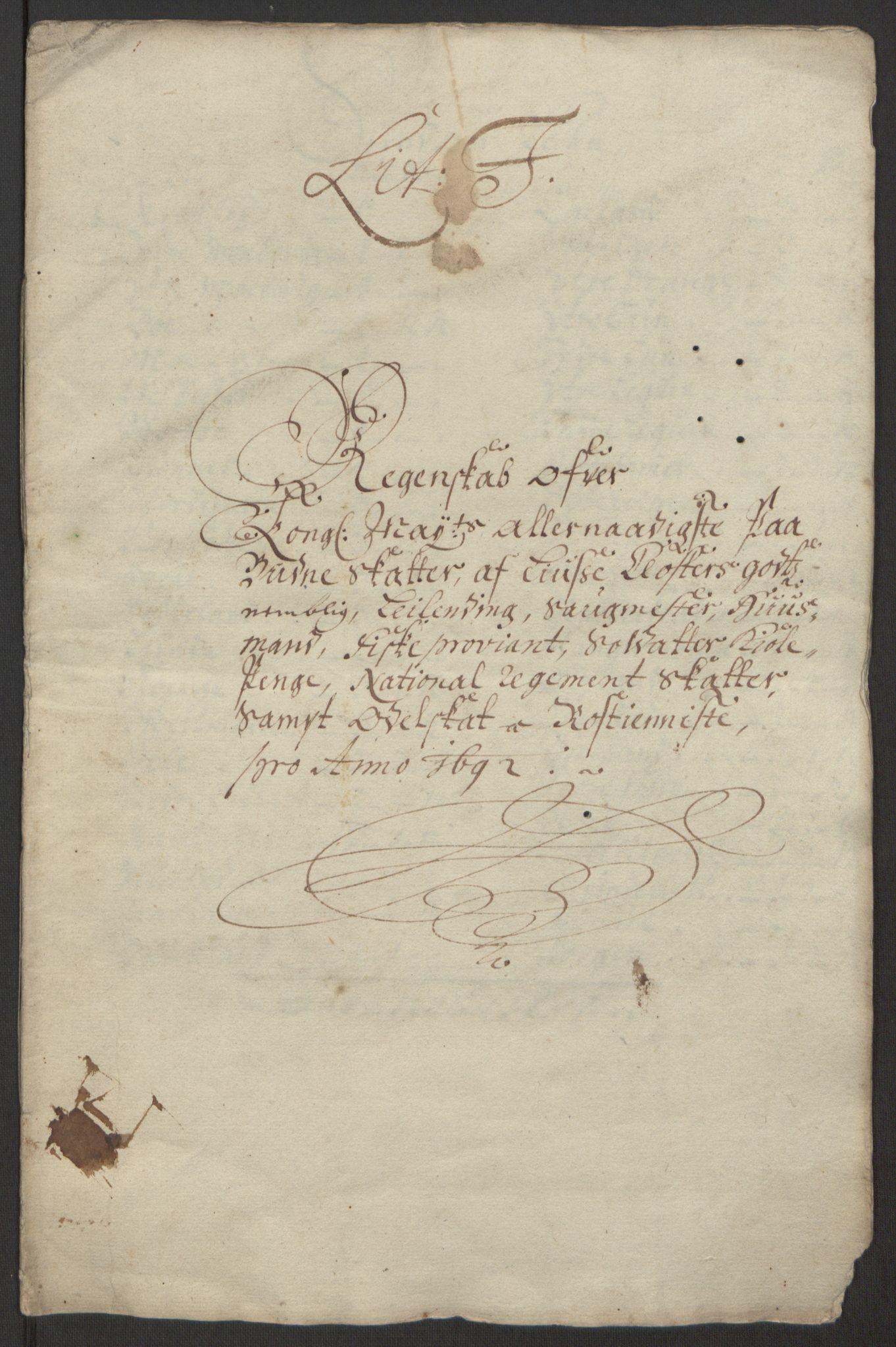 RA, Rentekammeret inntil 1814, Reviderte regnskaper, Fogderegnskap, R50/L3159: Fogderegnskap Lyse kloster, 1691-1709, s. 8