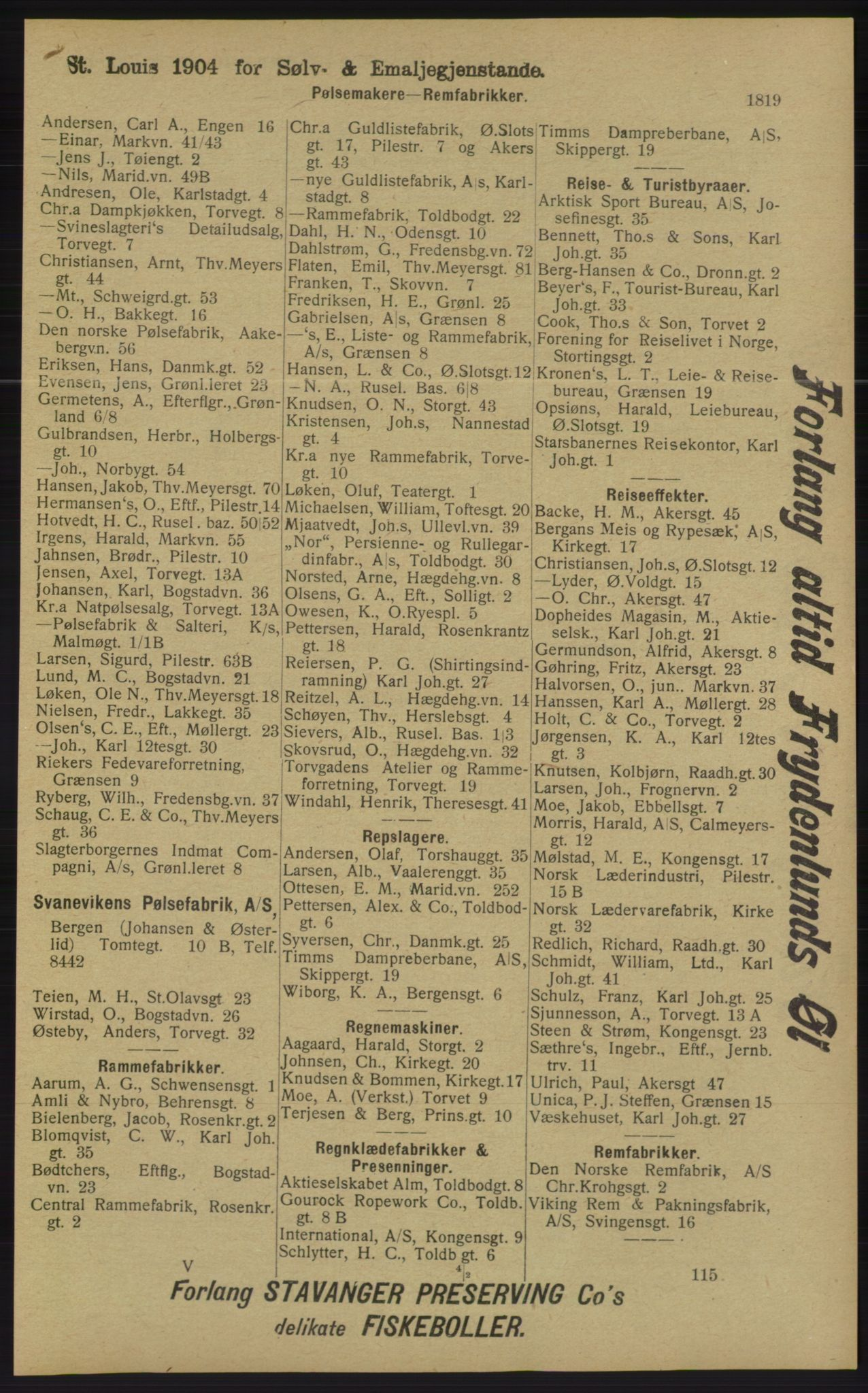 RA, Kristiania adressebok (publikasjon)*, 1913, s. 1819