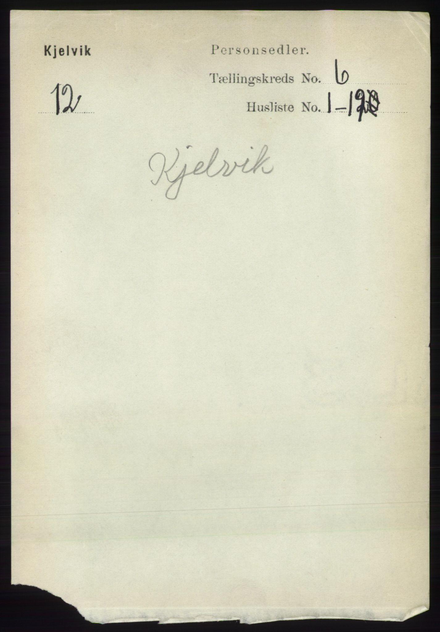 RA, Folketelling 1891 for 2019 Kjelvik herred, 1891, s. 627
