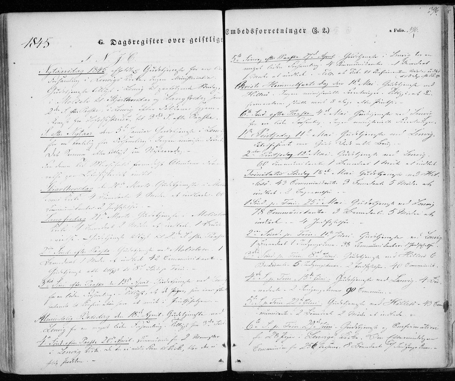 SATØ, Lenvik sokneprestembete, H/Ha: Ministerialbok nr. 6, 1845-1854, s. 396
