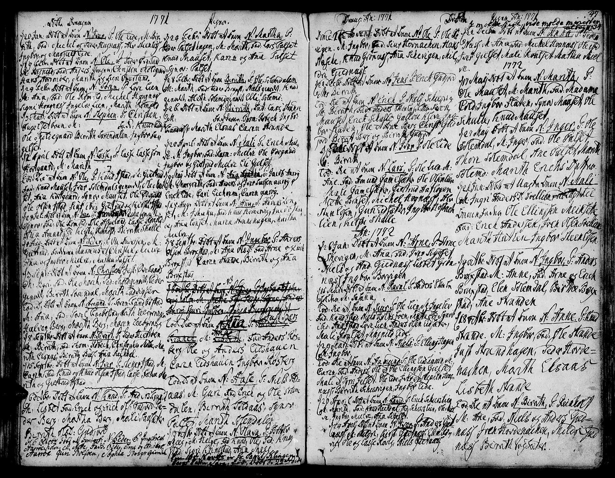 SAT, Ministerialprotokoller, klokkerbøker og fødselsregistre - Møre og Romsdal, 555/L0648: Ministerialbok nr. 555A01, 1759-1793, s. 47