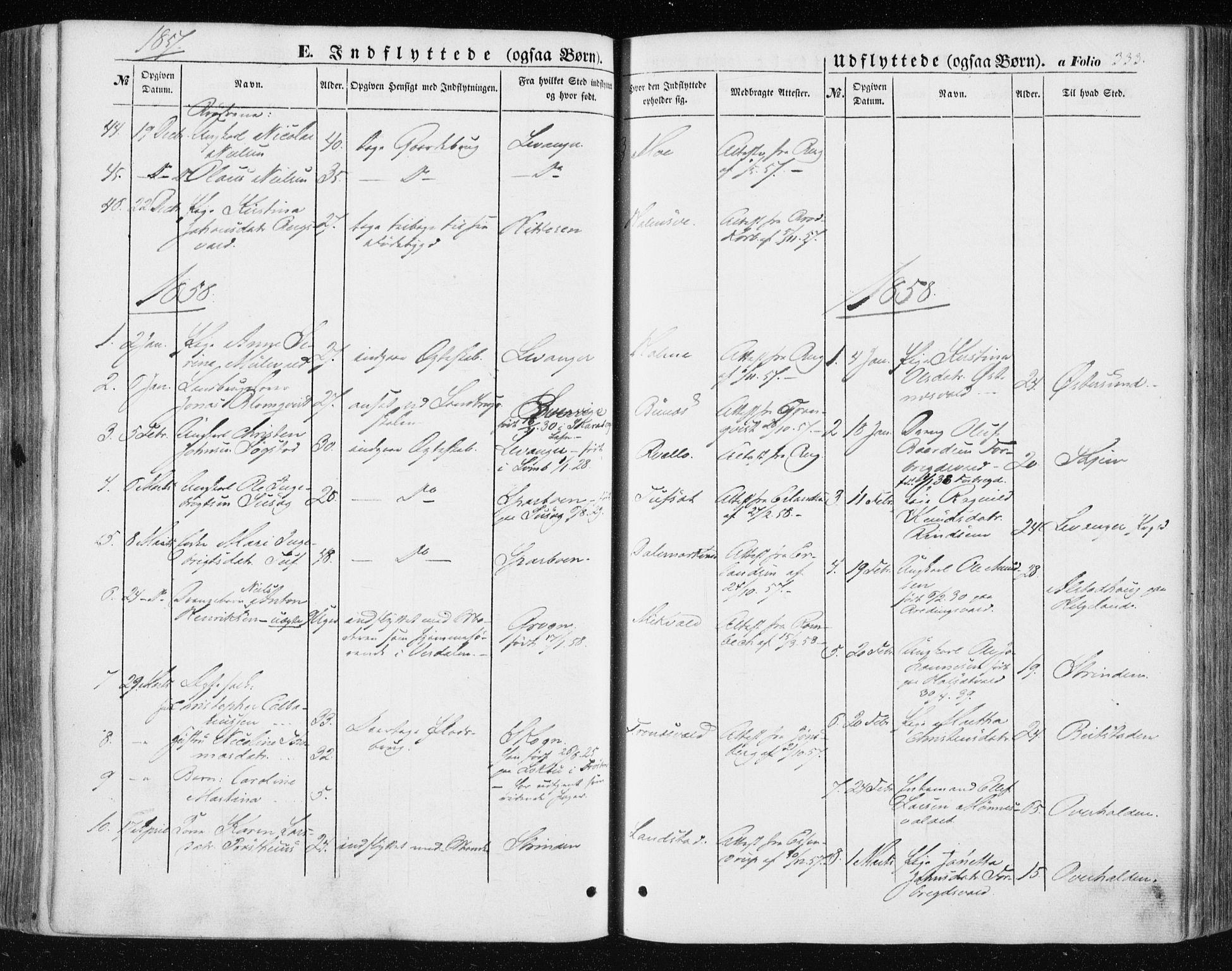 SAT, Ministerialprotokoller, klokkerbøker og fødselsregistre - Nord-Trøndelag, 723/L0240: Ministerialbok nr. 723A09, 1852-1860, s. 333