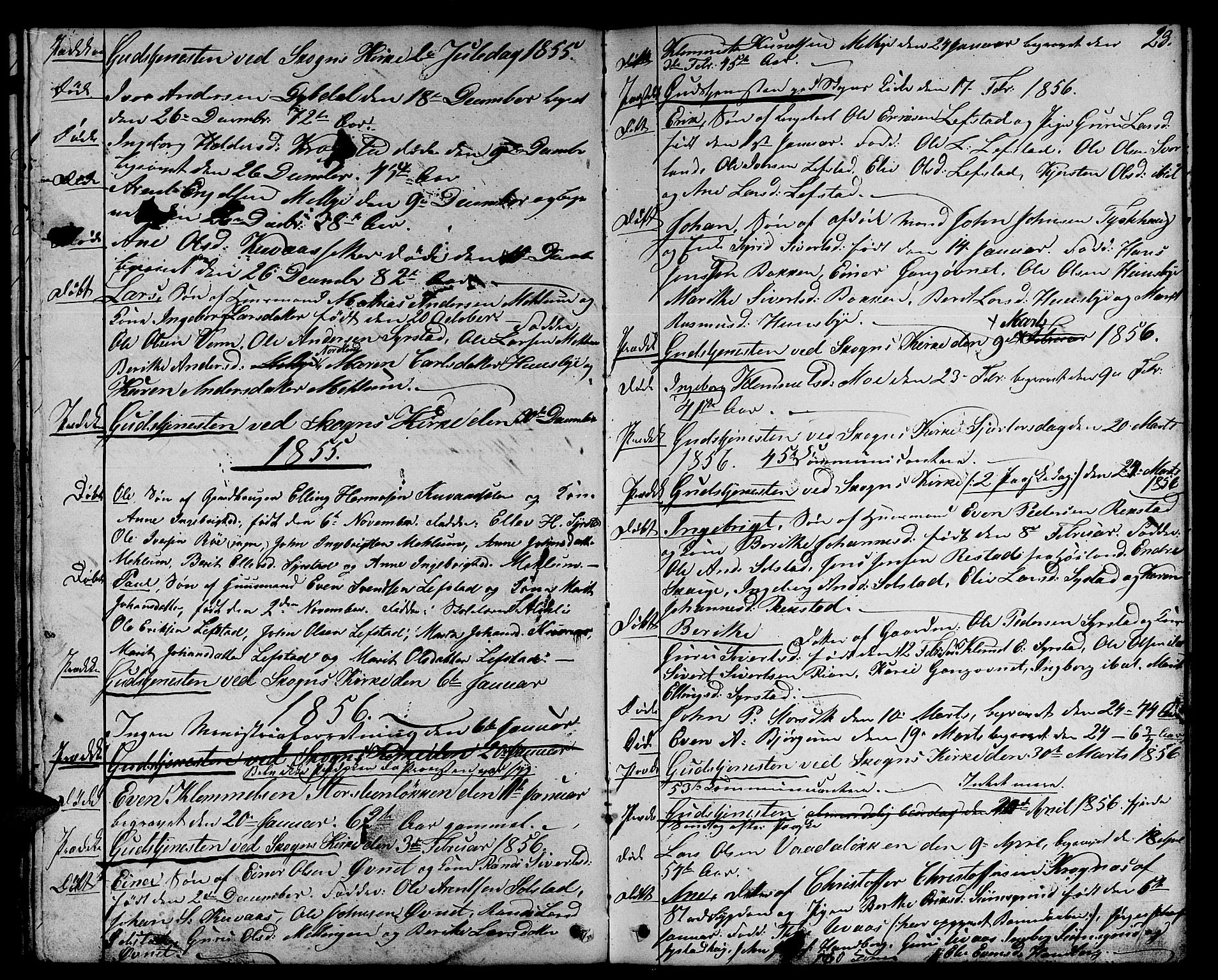 SAT, Ministerialprotokoller, klokkerbøker og fødselsregistre - Sør-Trøndelag, 667/L0797: Klokkerbok nr. 667C02, 1849-1867, s. 23