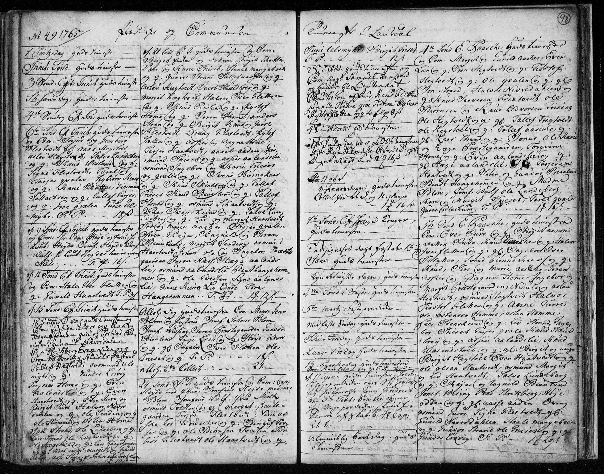 SAKO, Lårdal kirkebøker, F/Fa/L0003: Ministerialbok nr. I 3, 1754-1790, s. 98