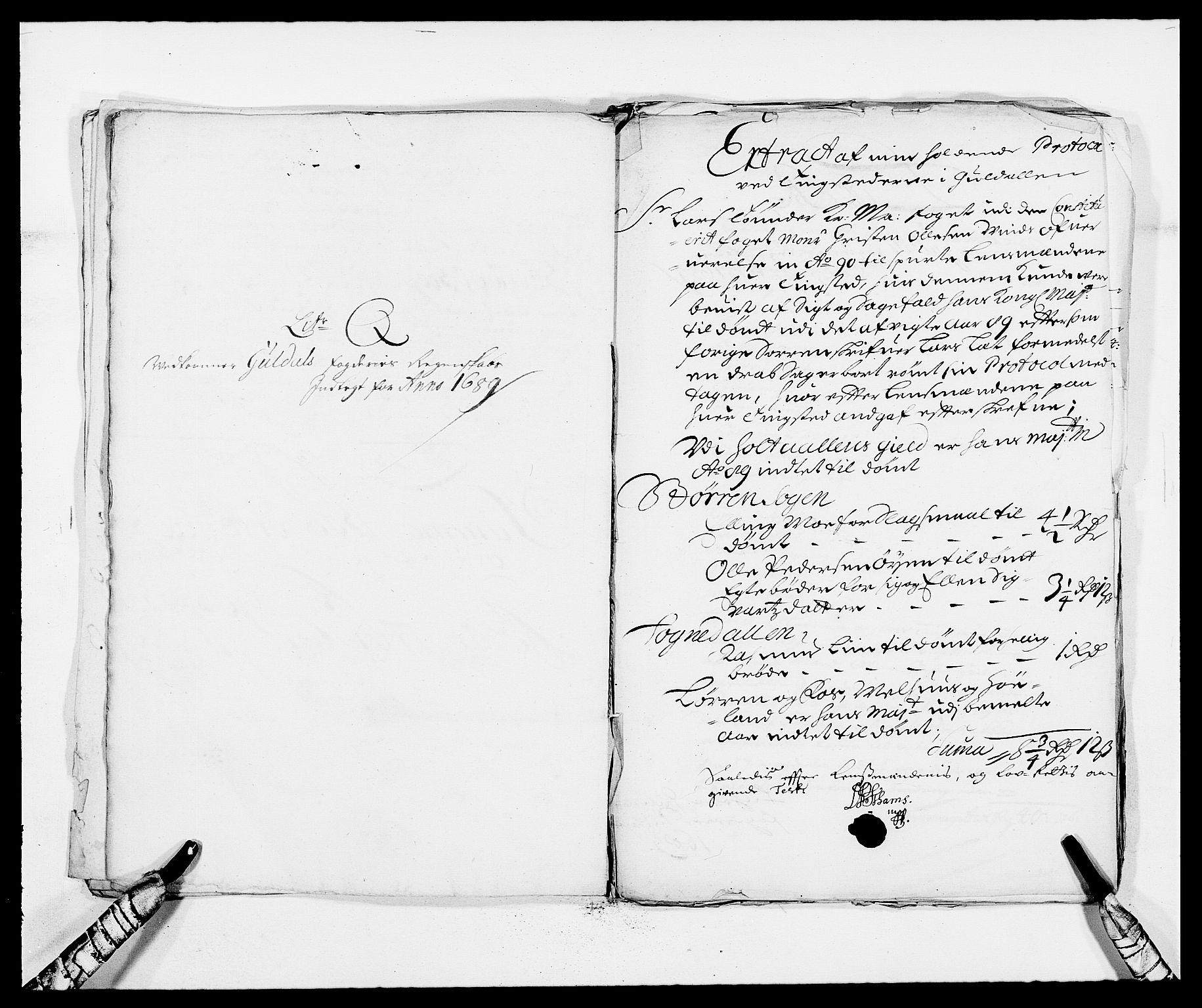 RA, Rentekammeret inntil 1814, Reviderte regnskaper, Fogderegnskap, R59/L3940: Fogderegnskap Gauldal, 1689-1690, s. 151