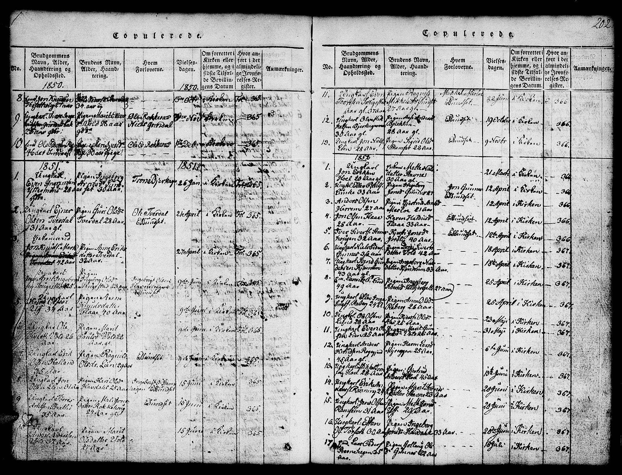 SAT, Ministerialprotokoller, klokkerbøker og fødselsregistre - Sør-Trøndelag, 674/L0874: Klokkerbok nr. 674C01, 1816-1860, s. 202
