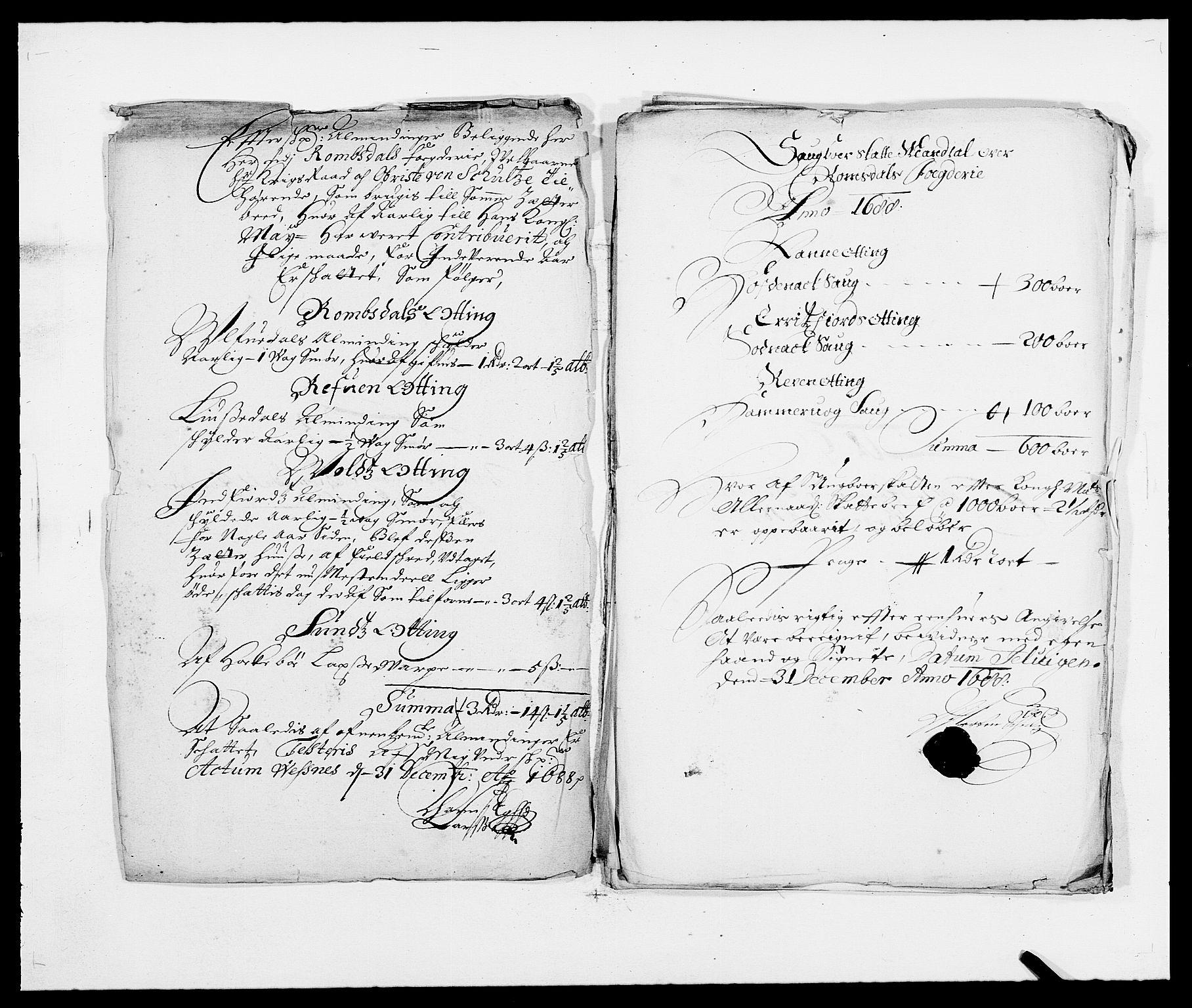 RA, Rentekammeret inntil 1814, Reviderte regnskaper, Fogderegnskap, R55/L3648: Fogderegnskap Romsdal, 1687-1689, s. 219